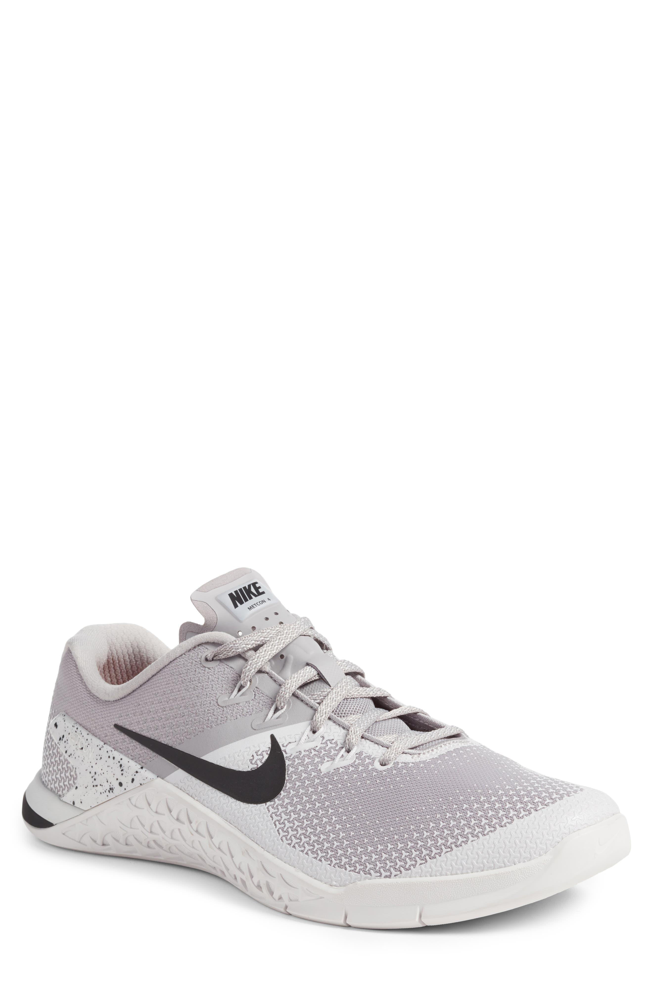 Metcon 4 Training Shoe,                         Main,                         color, ATMOSPHERE GREY/ BLACK