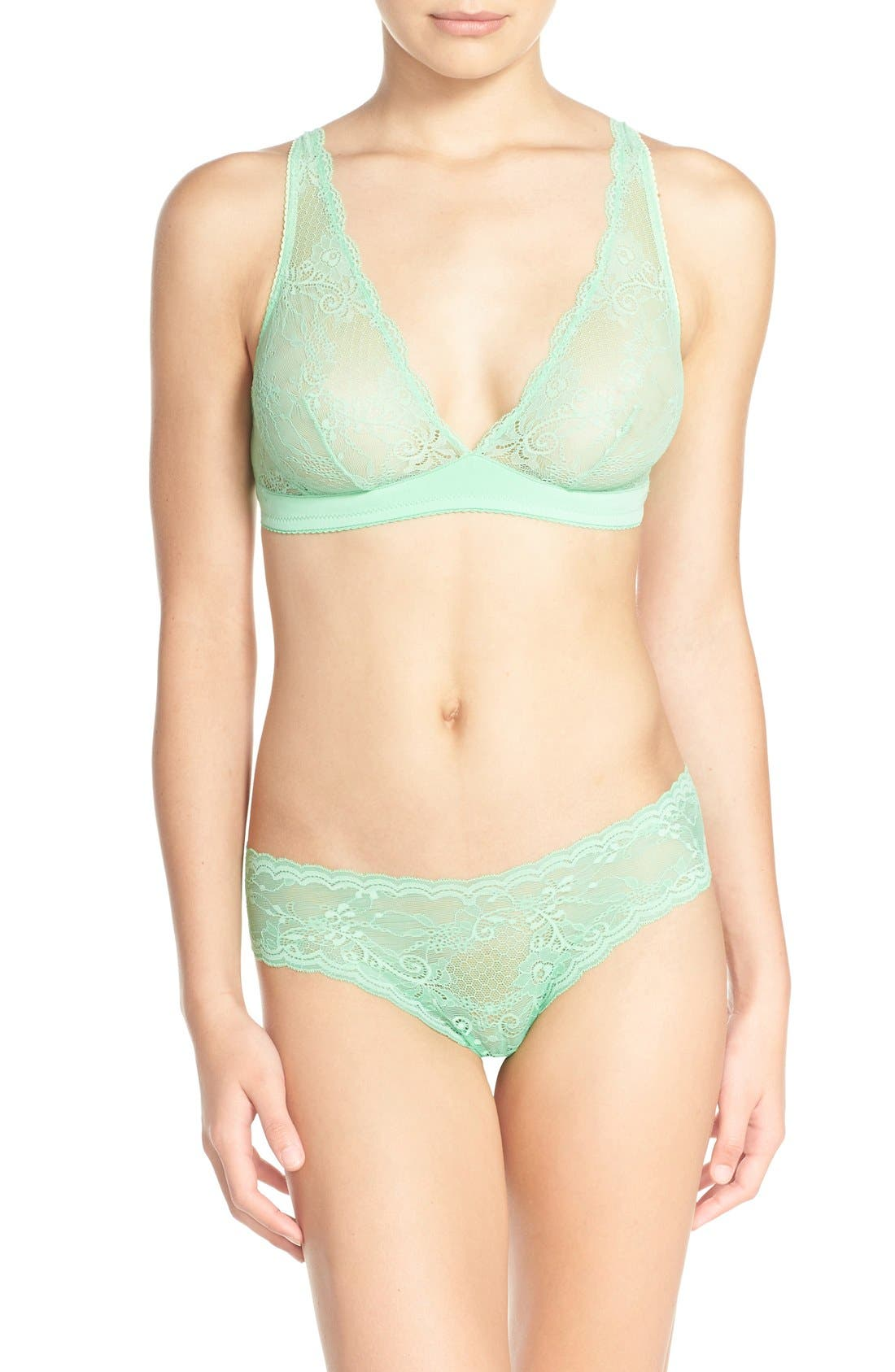 'Trenta' Low Rise Lace Thong,                             Alternate thumbnail 93, color,