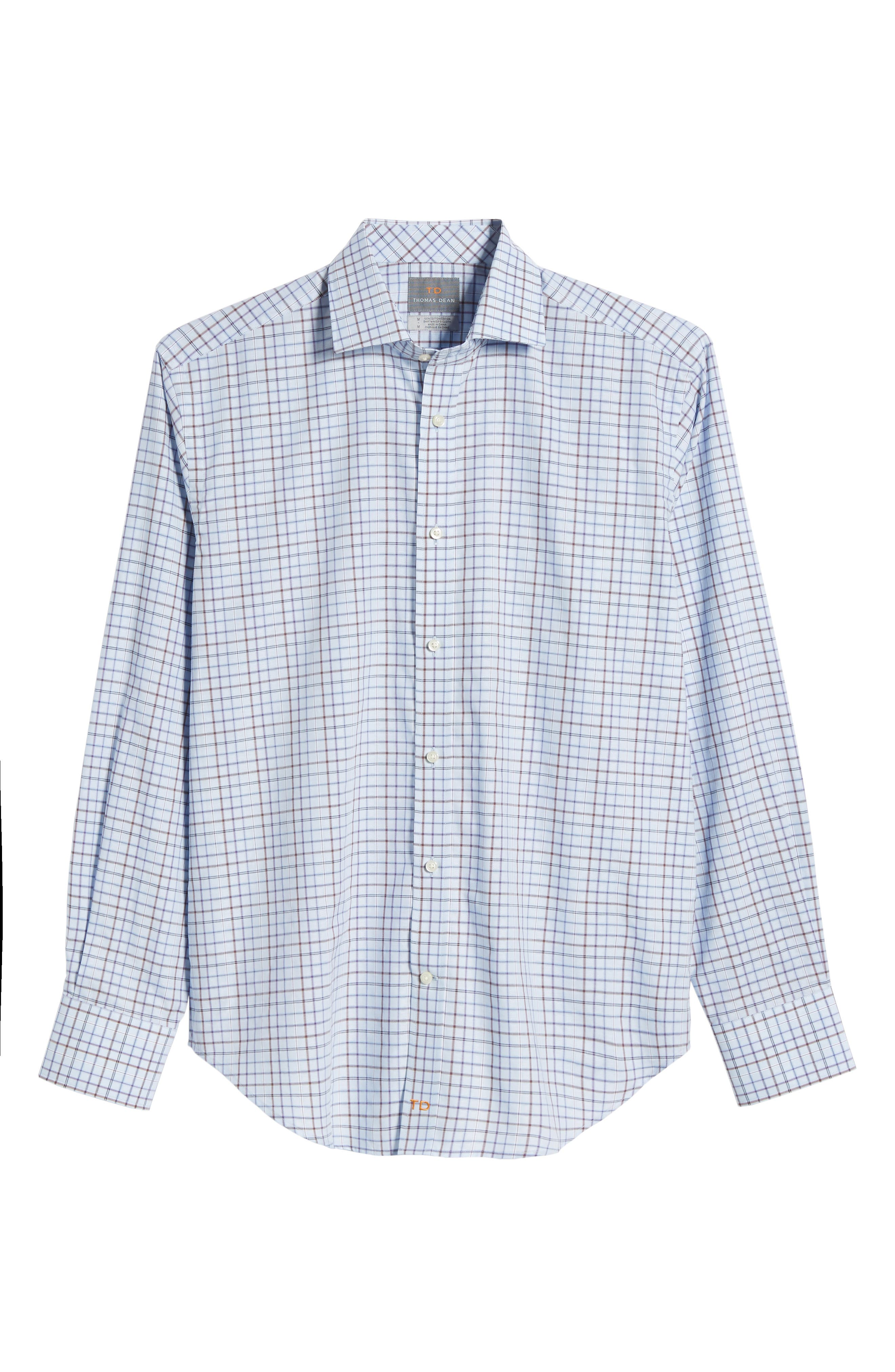Regular Fit Windowpane Sport Shirt,                             Alternate thumbnail 6, color,                             500