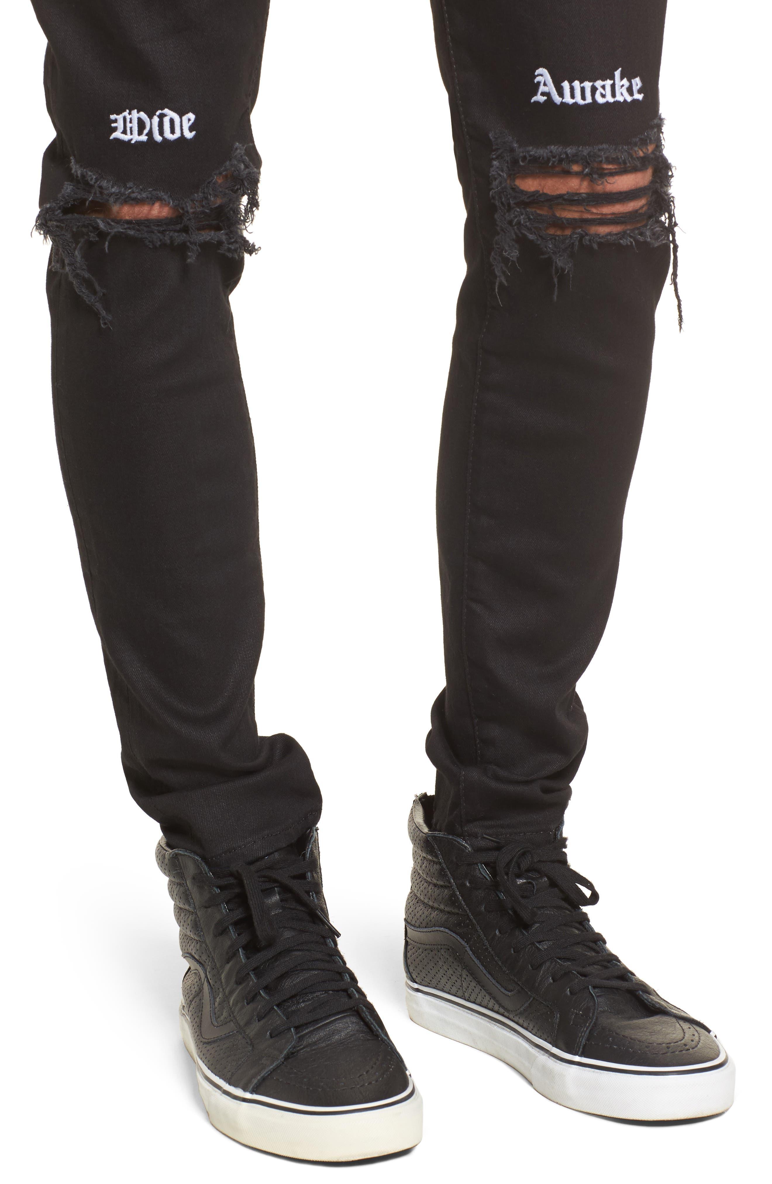Destroyer Slim Fit Jeans,                             Alternate thumbnail 4, color,                             001