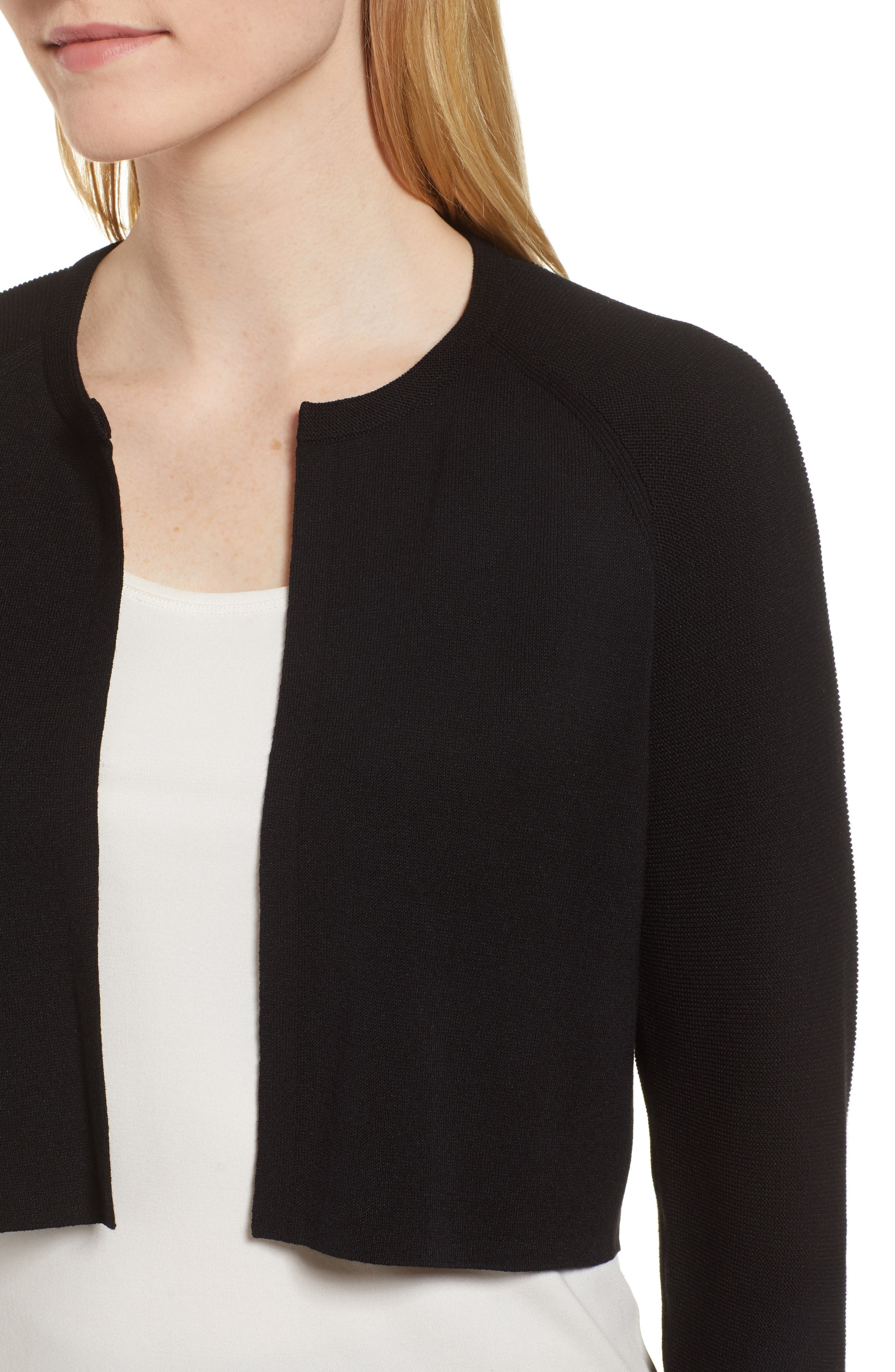 Fatildi Bolero Cardigan,                             Alternate thumbnail 4, color,                             BLACK