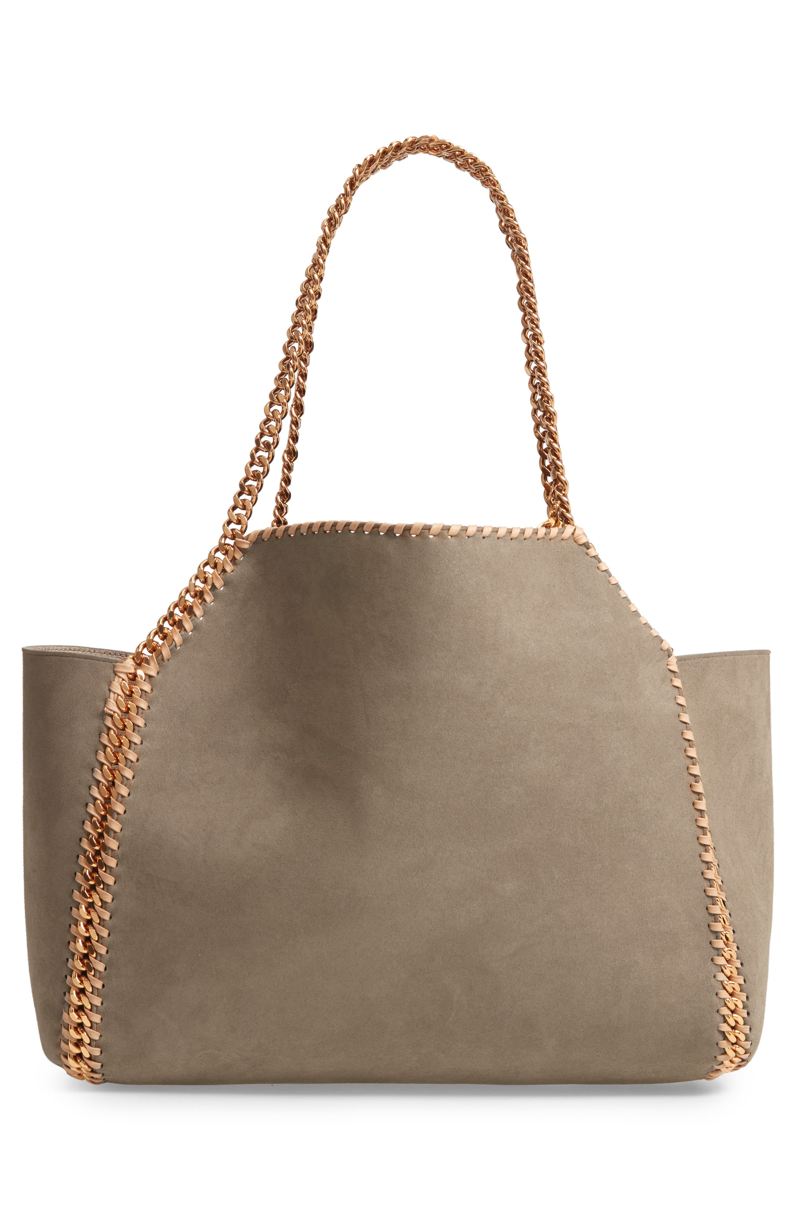 Shaggy Deer Reversible Faux Leather Tote,                             Alternate thumbnail 3, color,                             CLOTTED CREAM