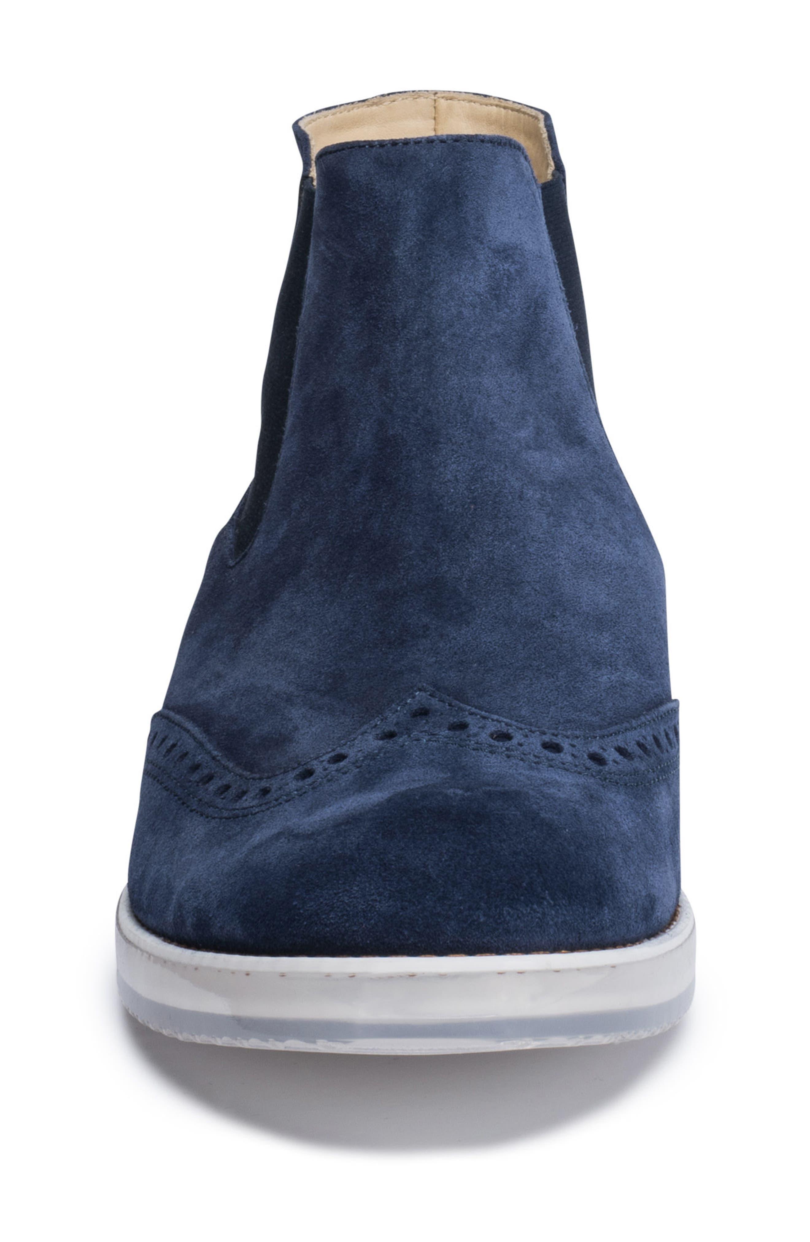Brescia Mid Chelsea Wingtip Sneaker Boot,                             Alternate thumbnail 4, color,                             429
