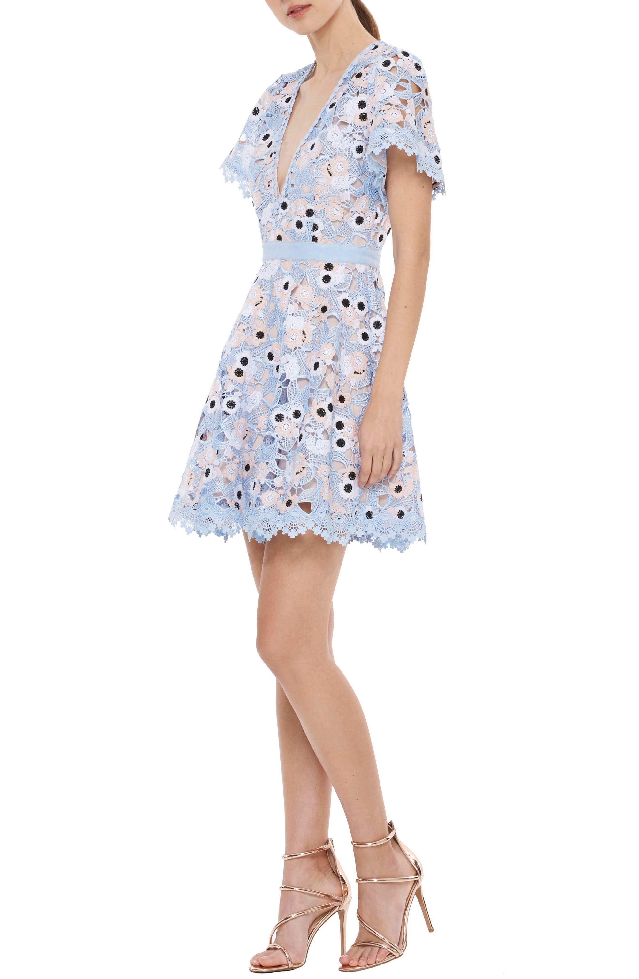 Infatuation Crochet Dress,                             Alternate thumbnail 3, color,                             450