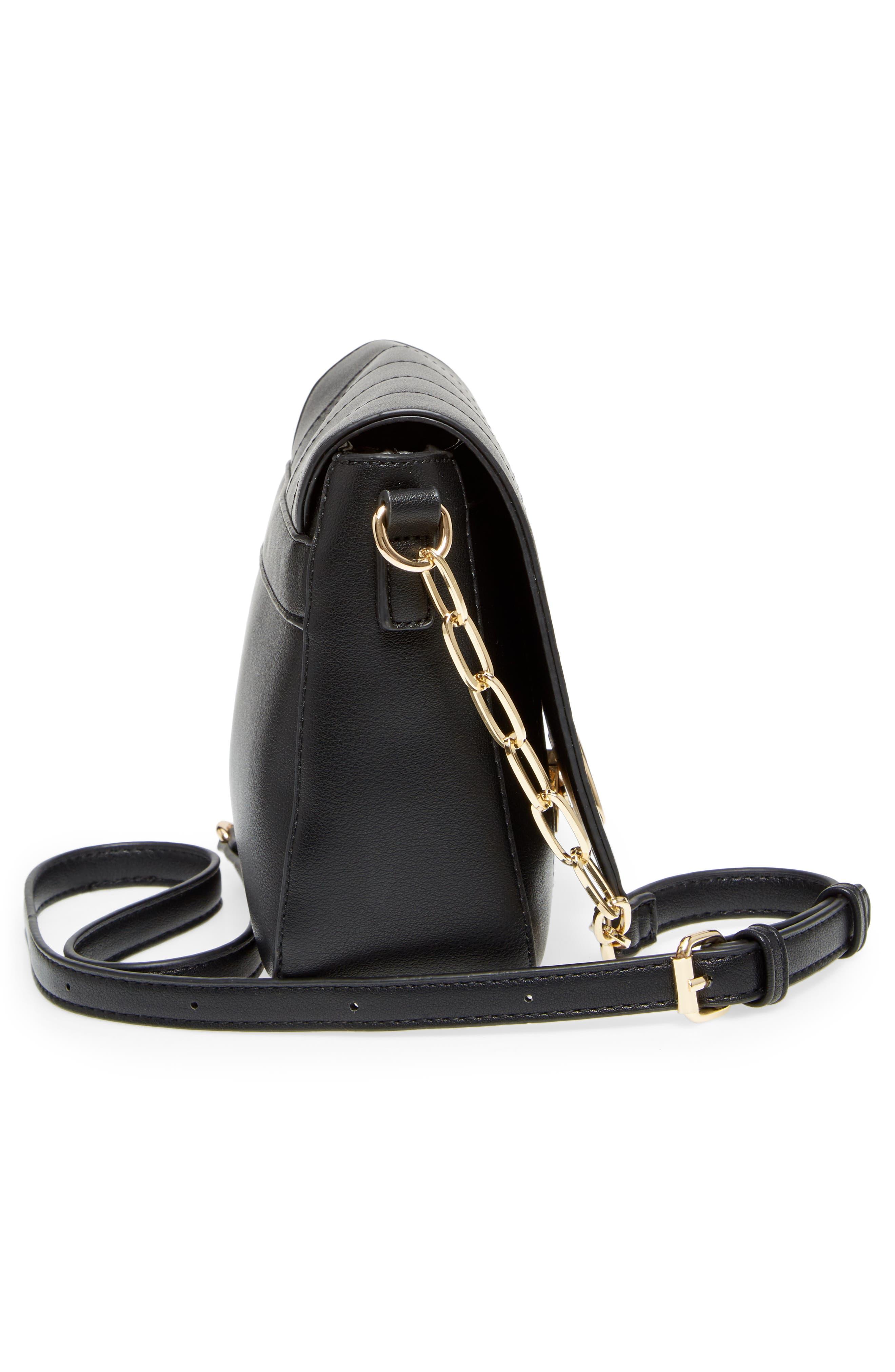 Colie Faux Leather Crossbody Bag,                             Alternate thumbnail 5, color,                             001
