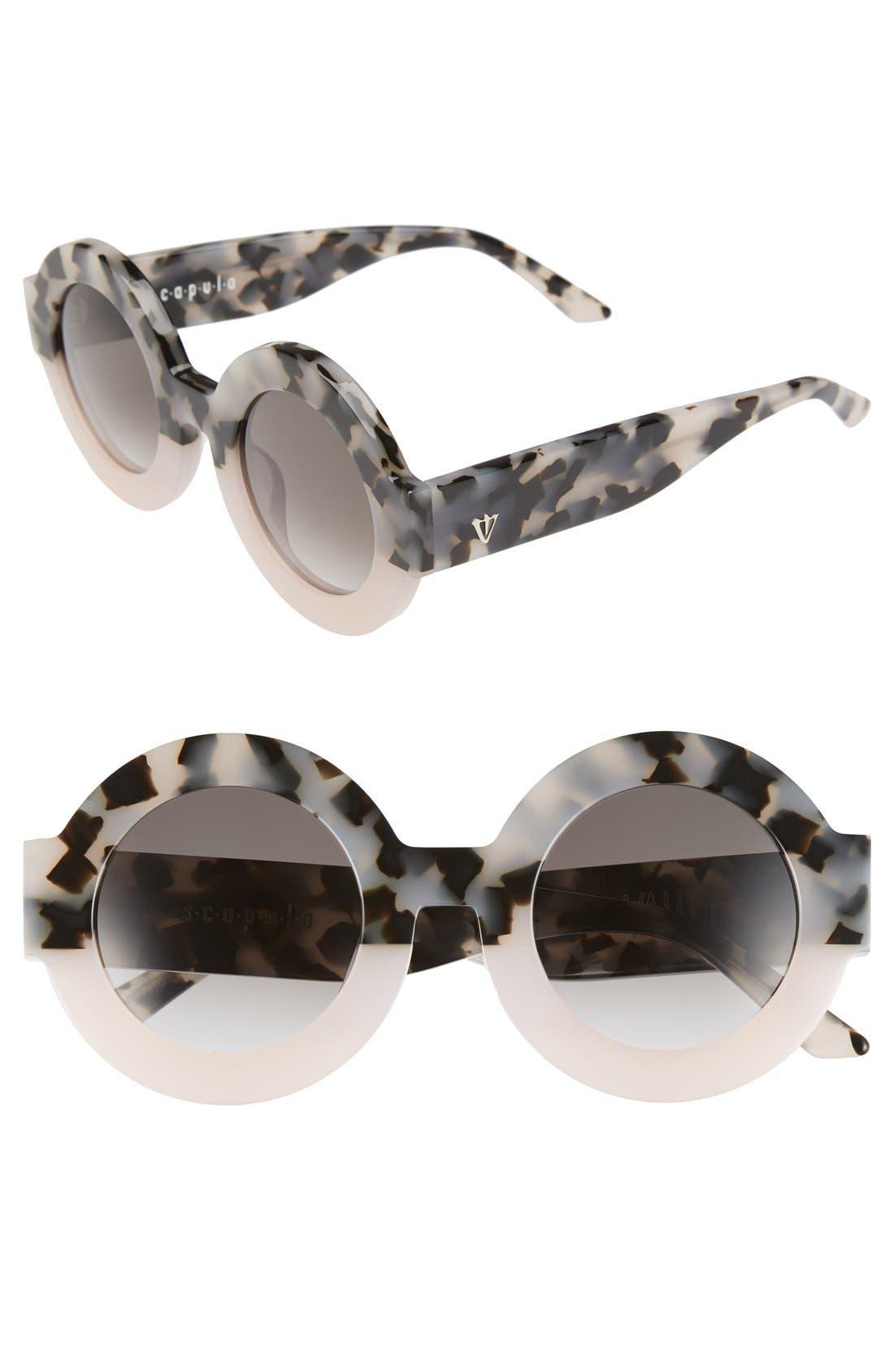 'Scapula' 45mm Round Sunglasses,                             Main thumbnail 3, color,