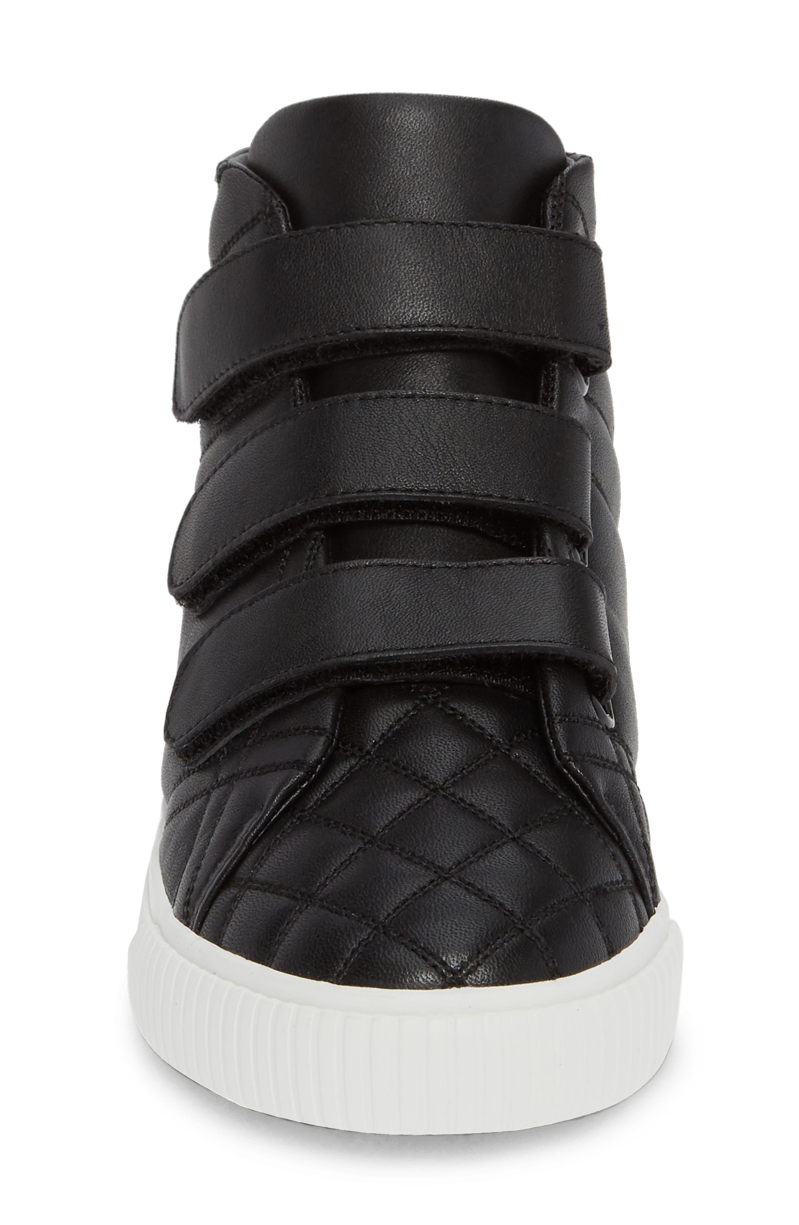Sturrock Hi Top Sneaker,                             Alternate thumbnail 4, color,                             BLACK