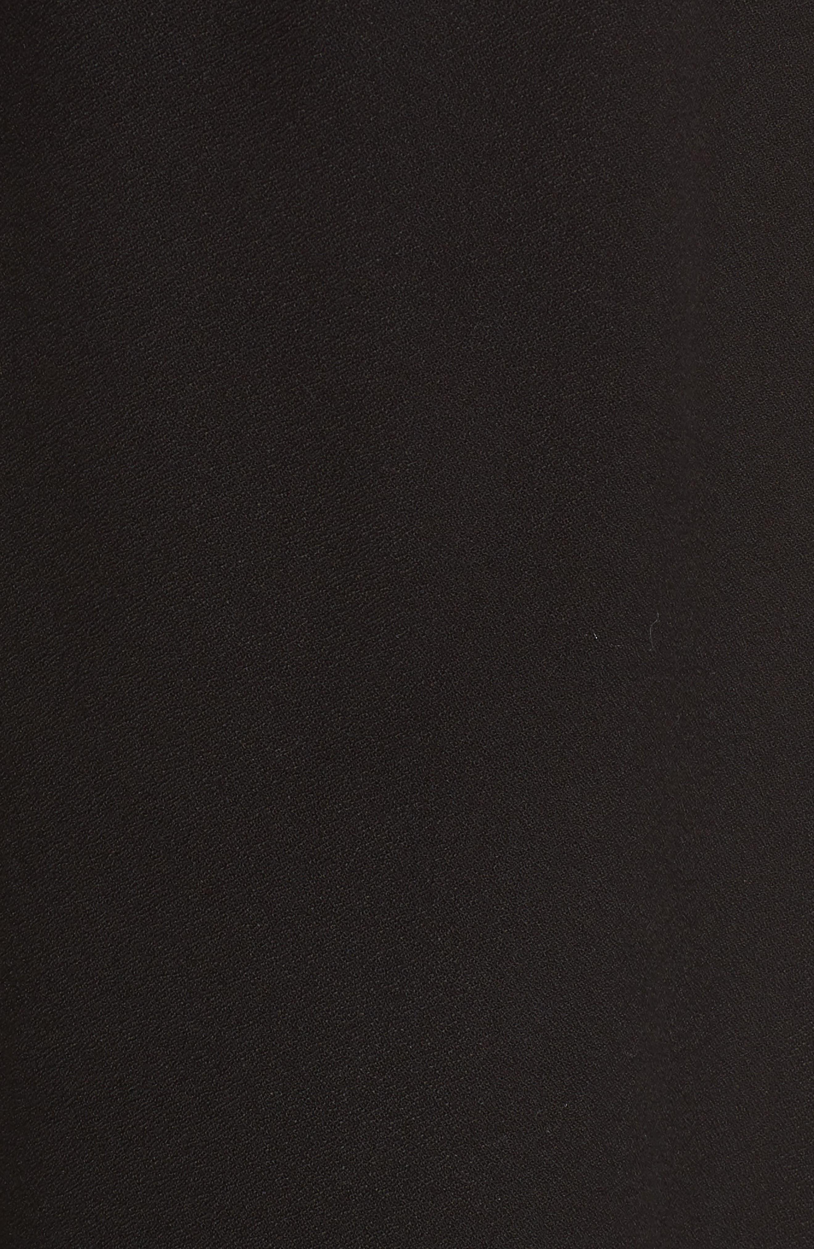Carey Handkerchief Hem Maternity Dress,                             Alternate thumbnail 5, color,                             CAVIAR BLACK