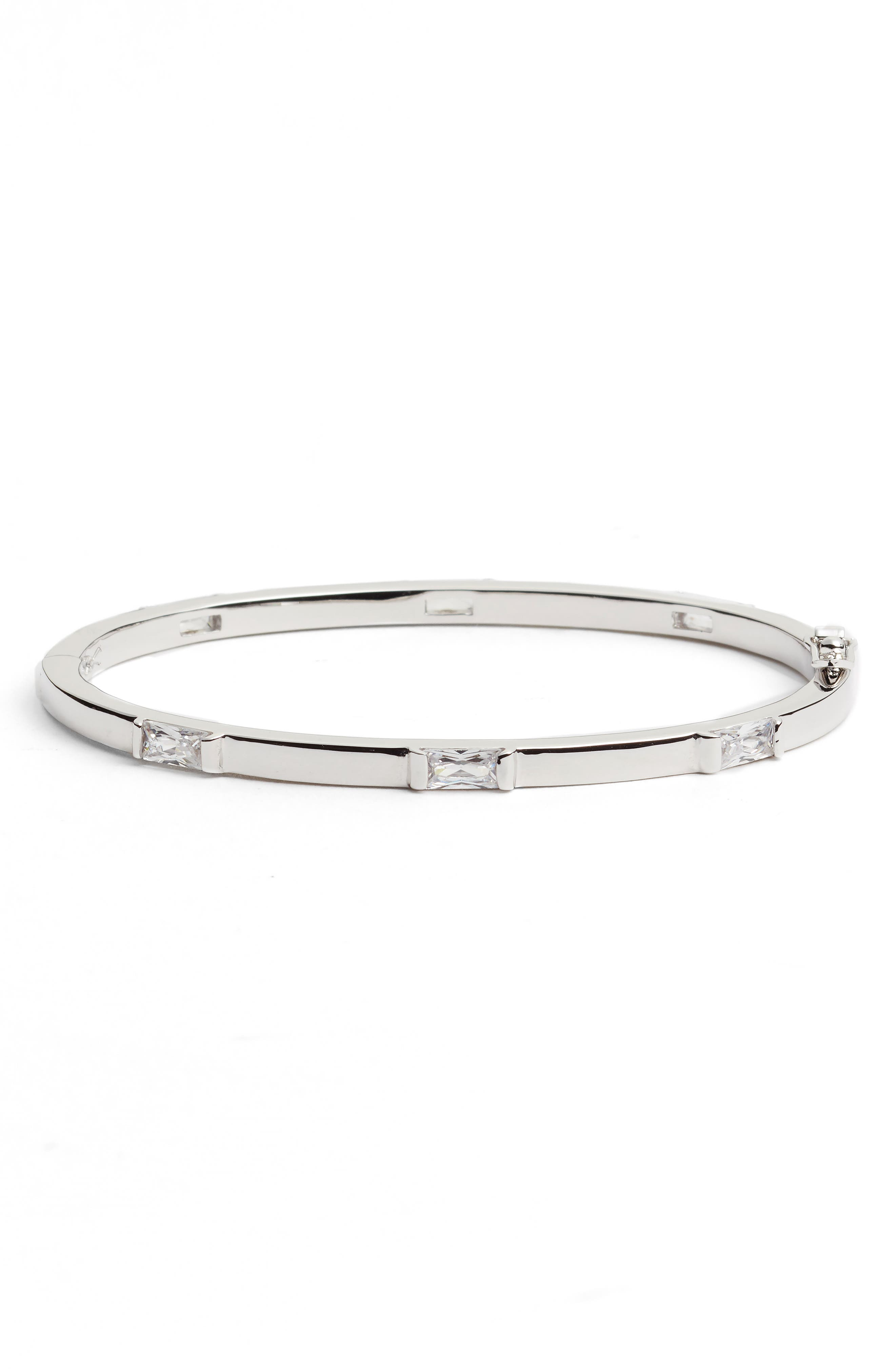 Step Cut Crystal Horizontal Station Bracelet,                         Main,                         color, 040