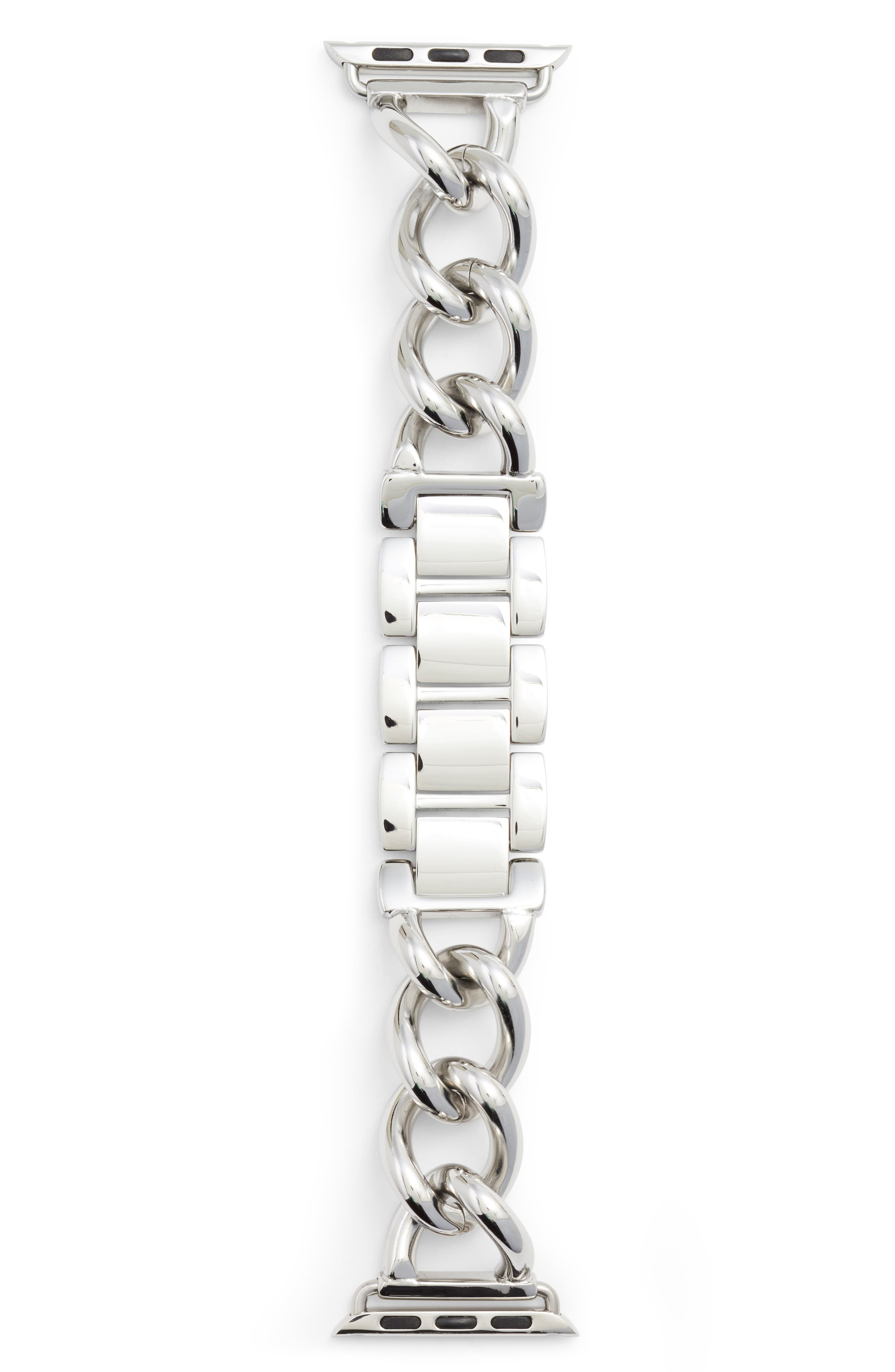 Bezels & Bytes Chunky Curb Chain Apple Watch Band, 42mm,                             Main thumbnail 2, color,
