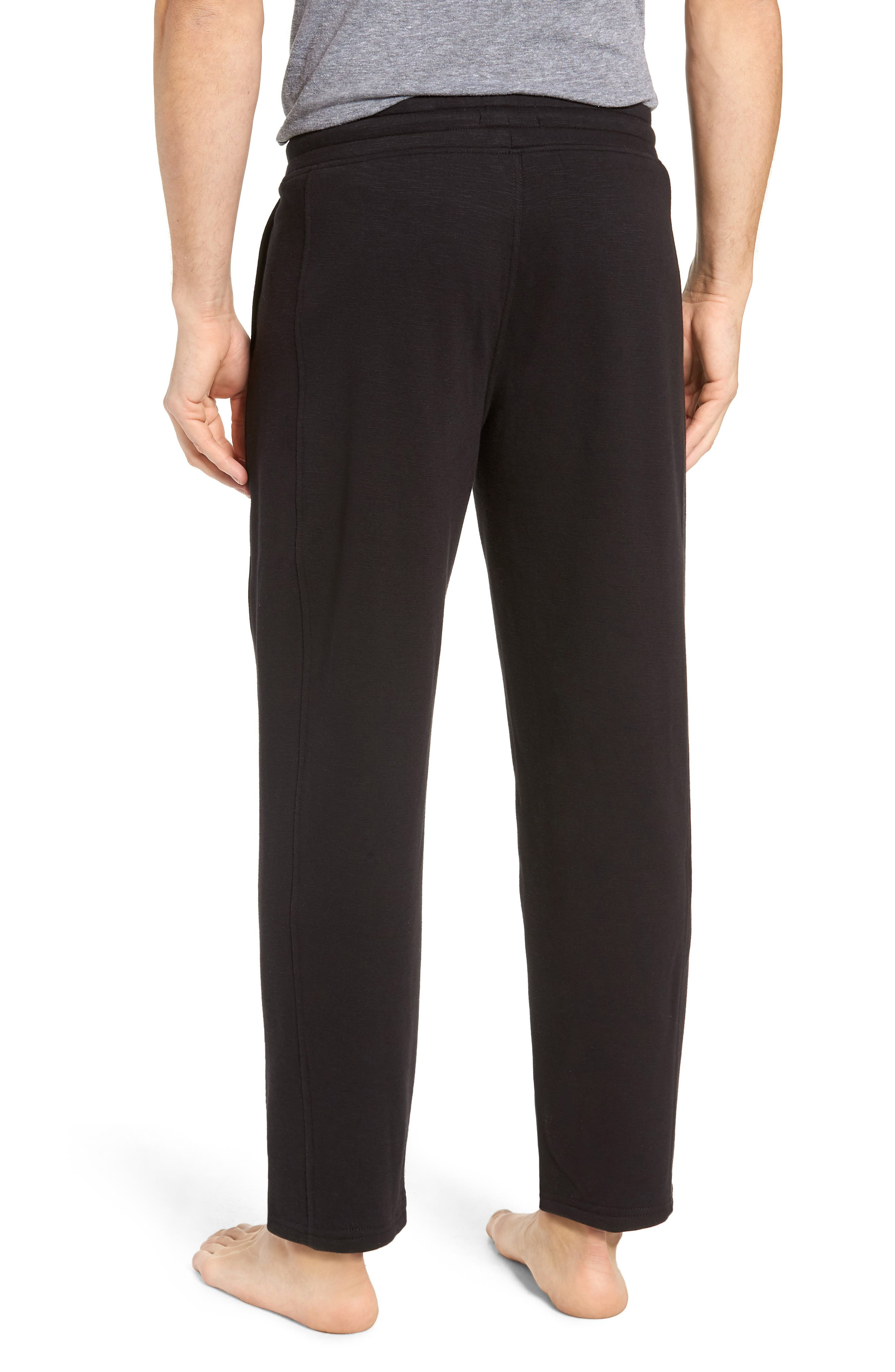 French Terry Moto Pants,                             Alternate thumbnail 2, color,                             BLACK HEATHER