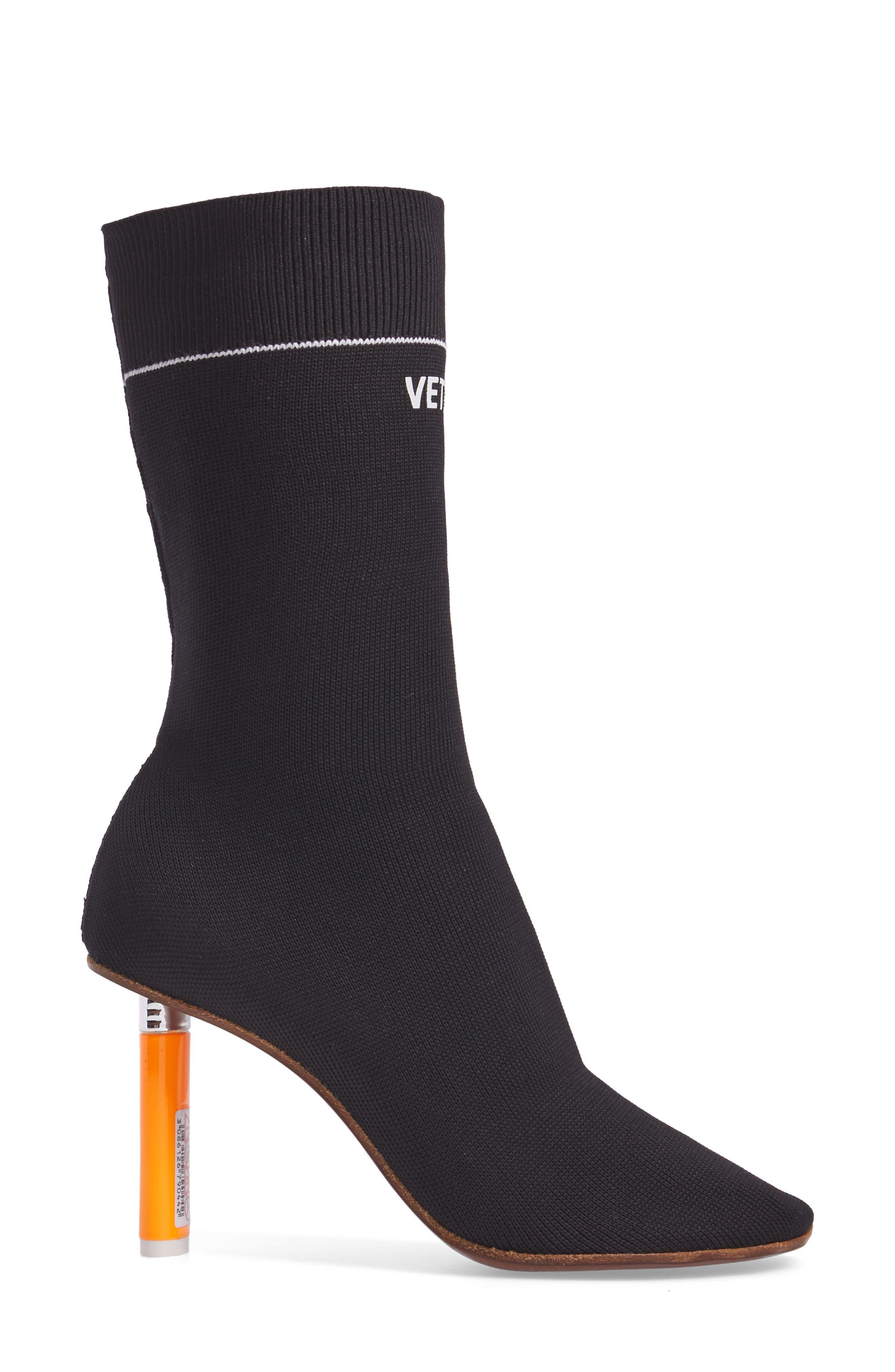 Sock Boot,                             Alternate thumbnail 3, color,                             001