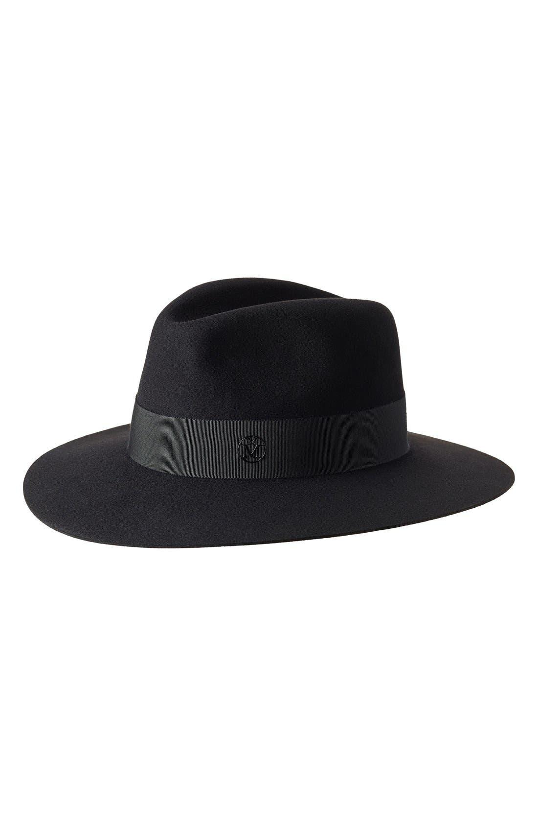 Henrietta Fur Felt Hat,                             Main thumbnail 1, color,                             001
