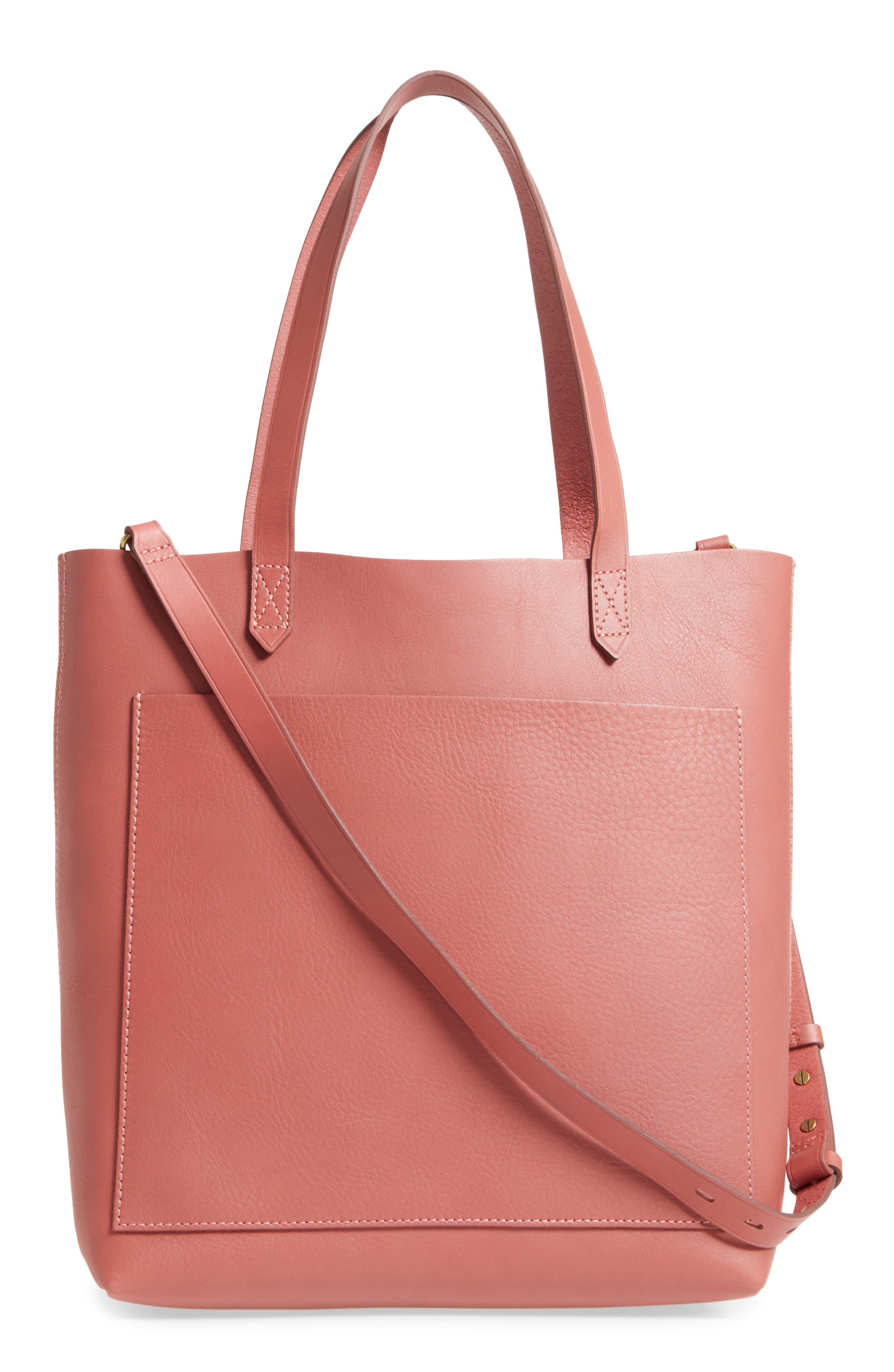Medium Leather Transport Tote,                             Alternate thumbnail 43, color,