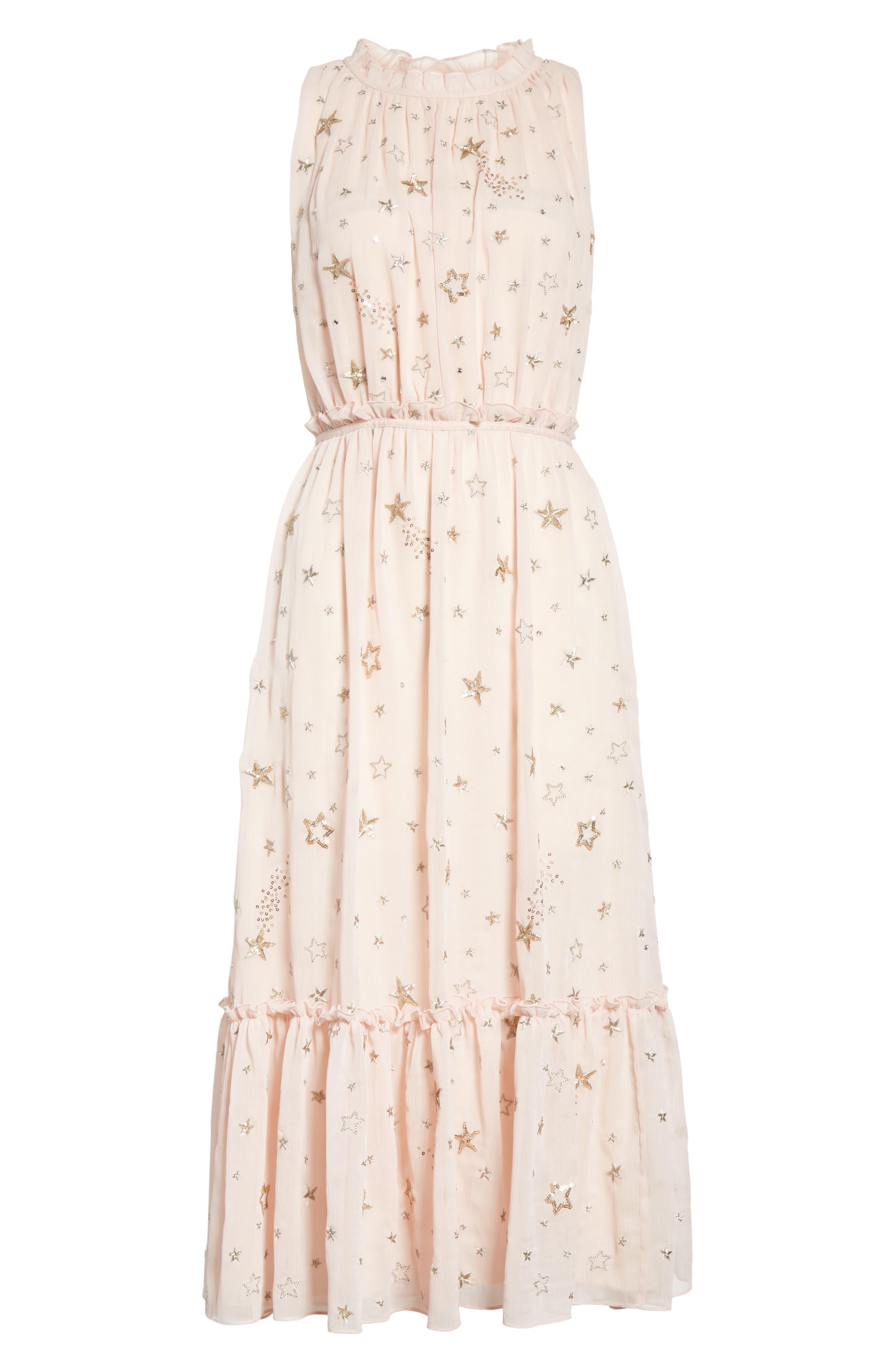 amada embellished midi dress,                             Alternate thumbnail 6, color,