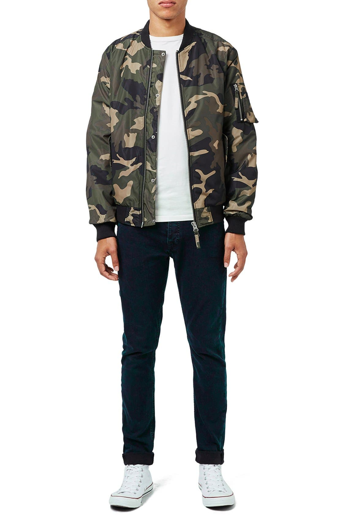 Camo Print MA-1 Bomber Jacket,                             Alternate thumbnail 2, color,                             300