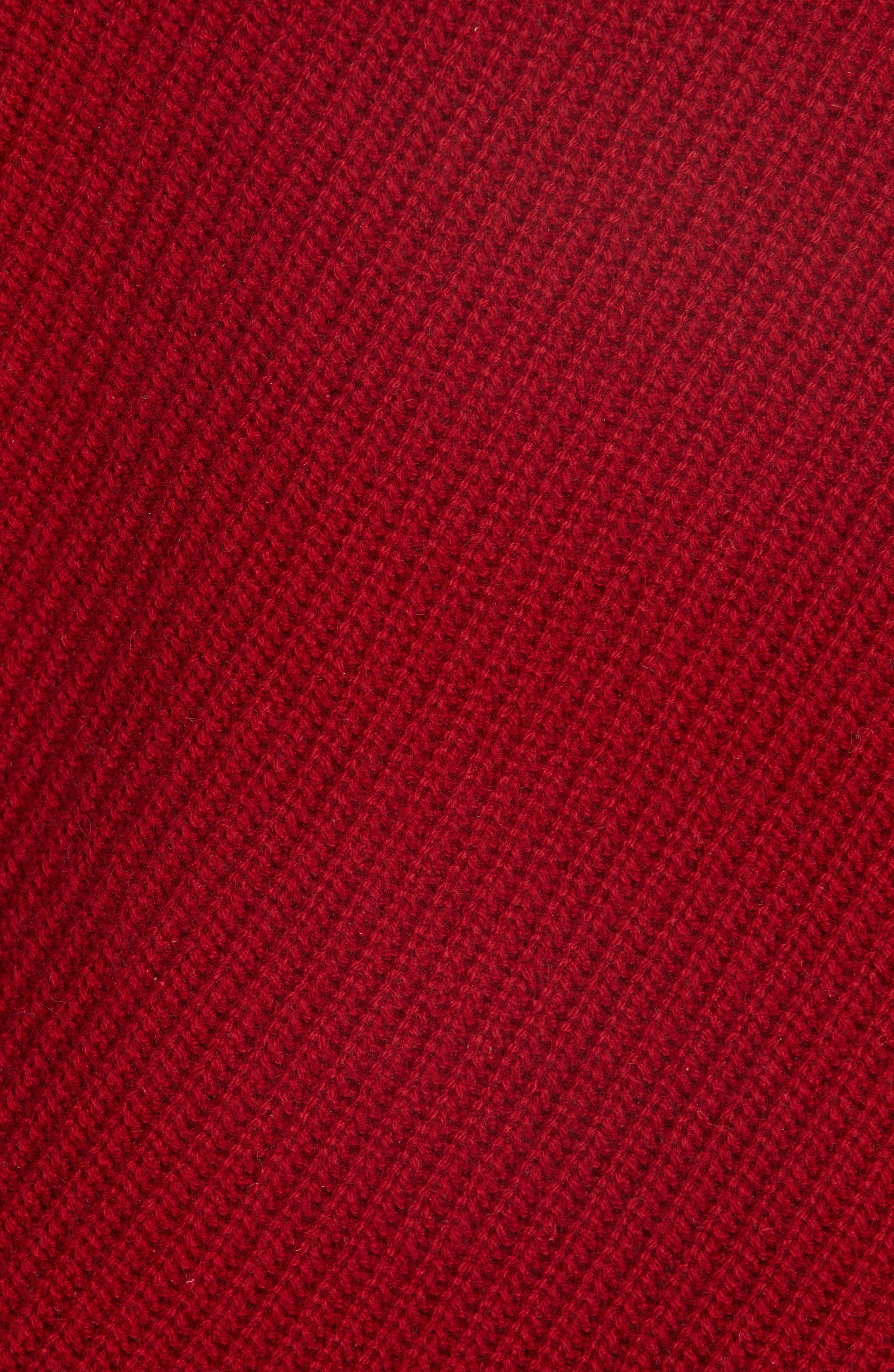Charly Wool & Cashmere One-Shoulder Sweater,                             Alternate thumbnail 5, color,                             RED