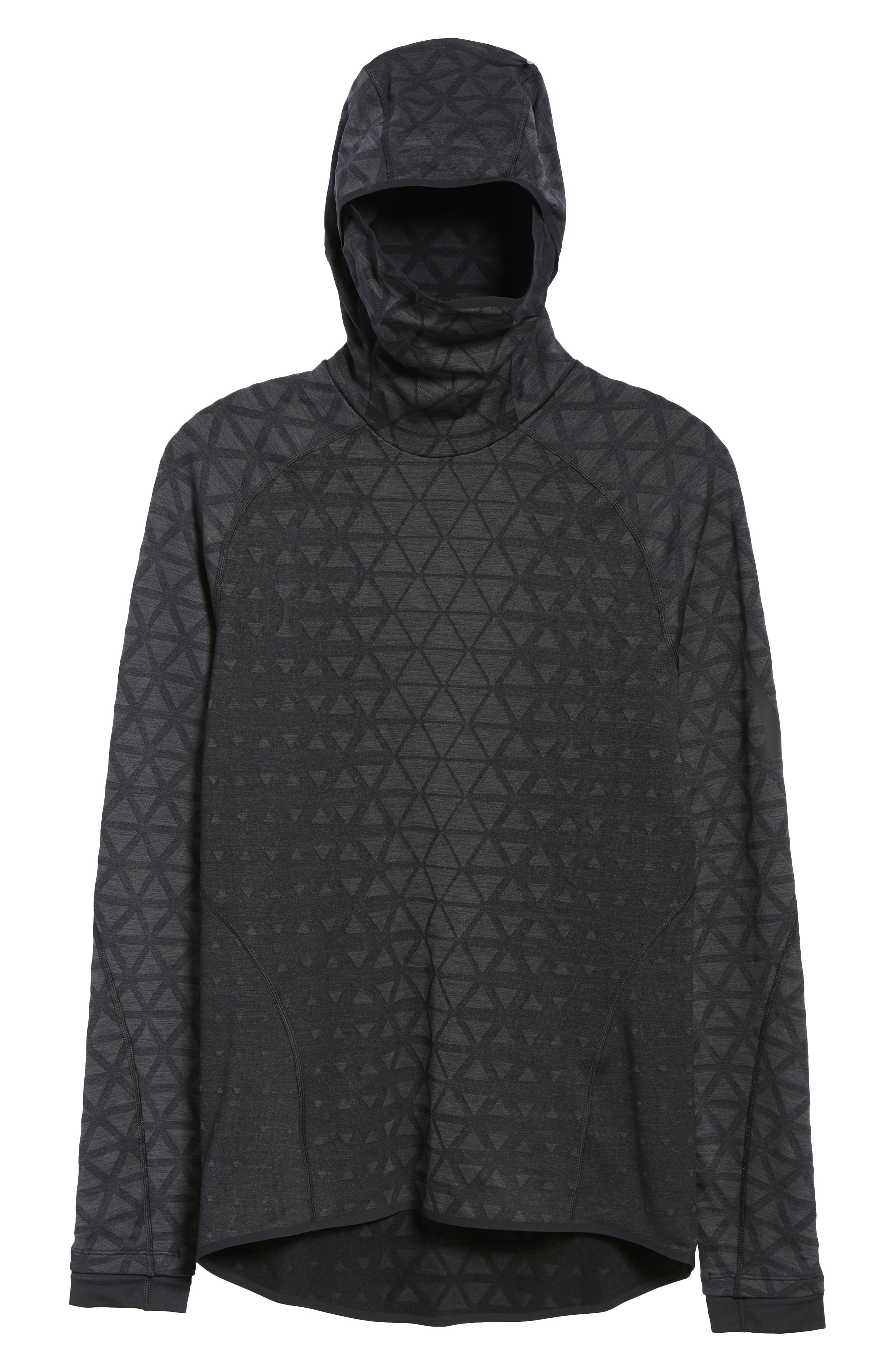 Therma Sphere Hooded Training Top,                             Alternate thumbnail 6, color,                             BLACK/ ANTHRACITE/ ANTHRACITE