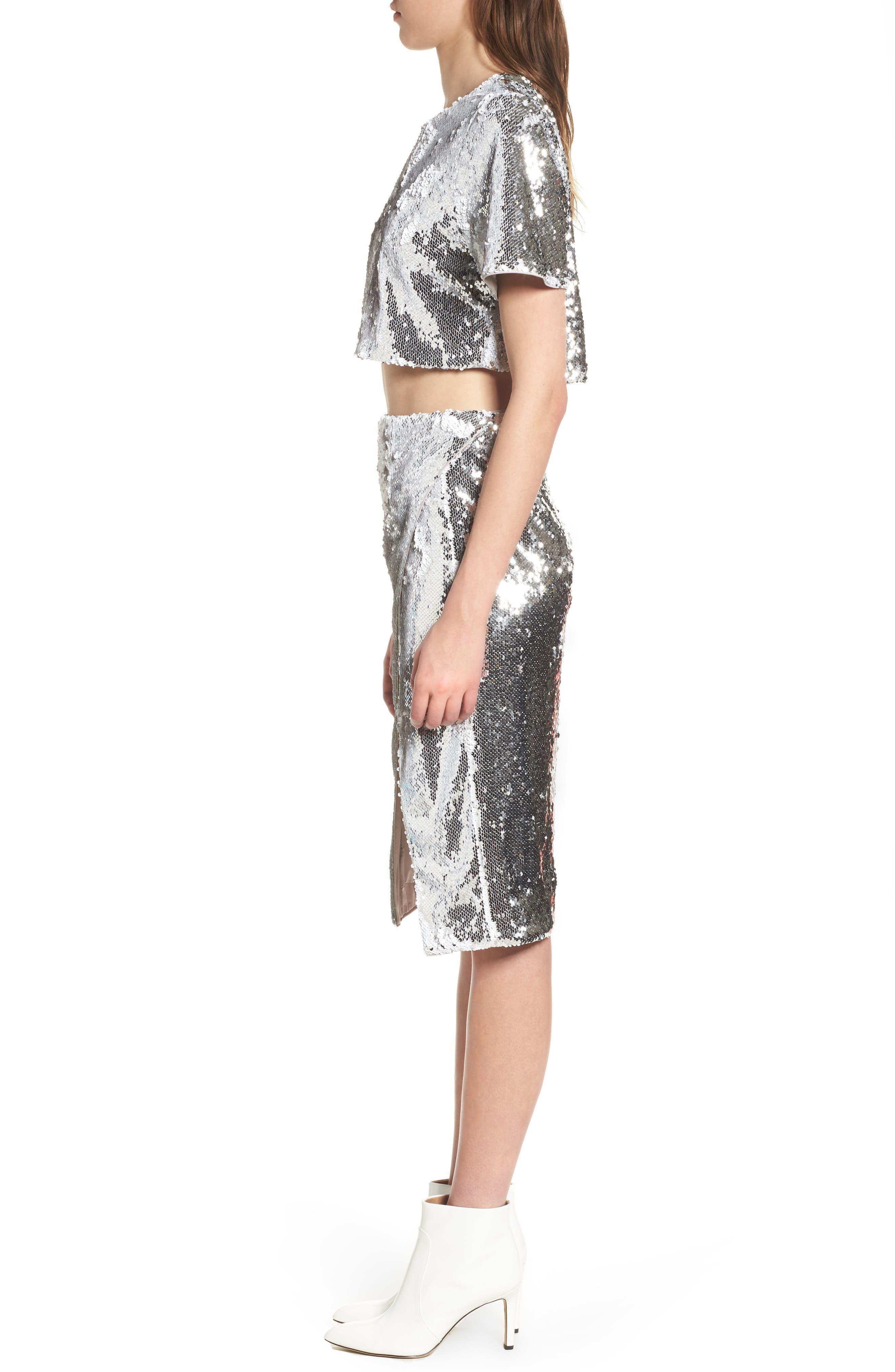 Liana Sequin Skirt,                             Alternate thumbnail 9, color,