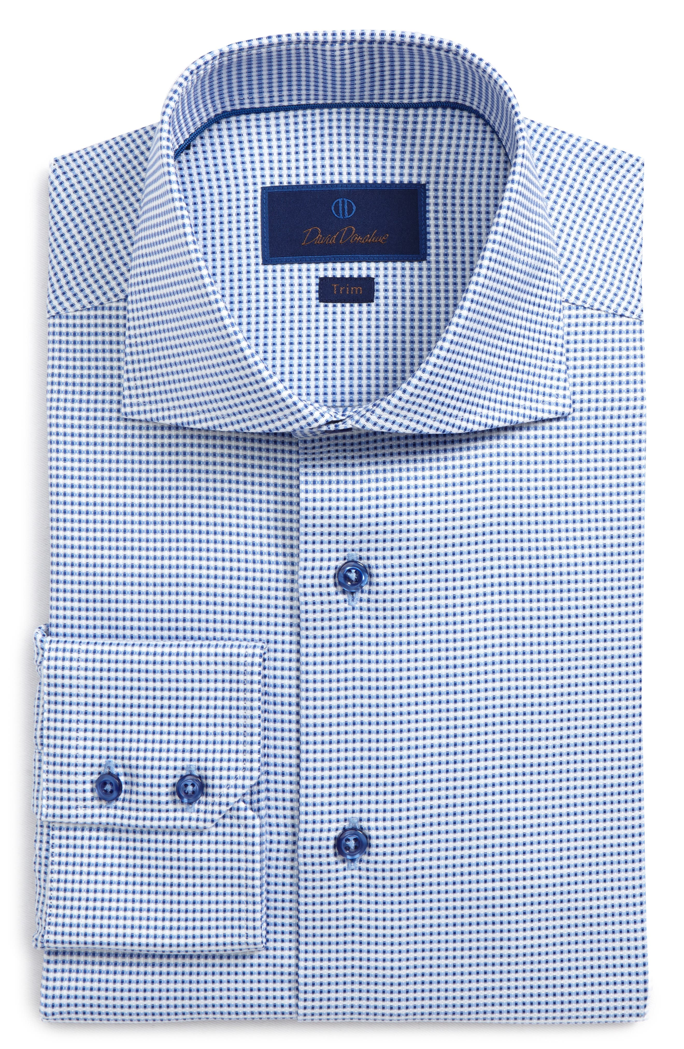 Trim Fit Dobby Dress Shirt,                             Main thumbnail 1, color,                             423