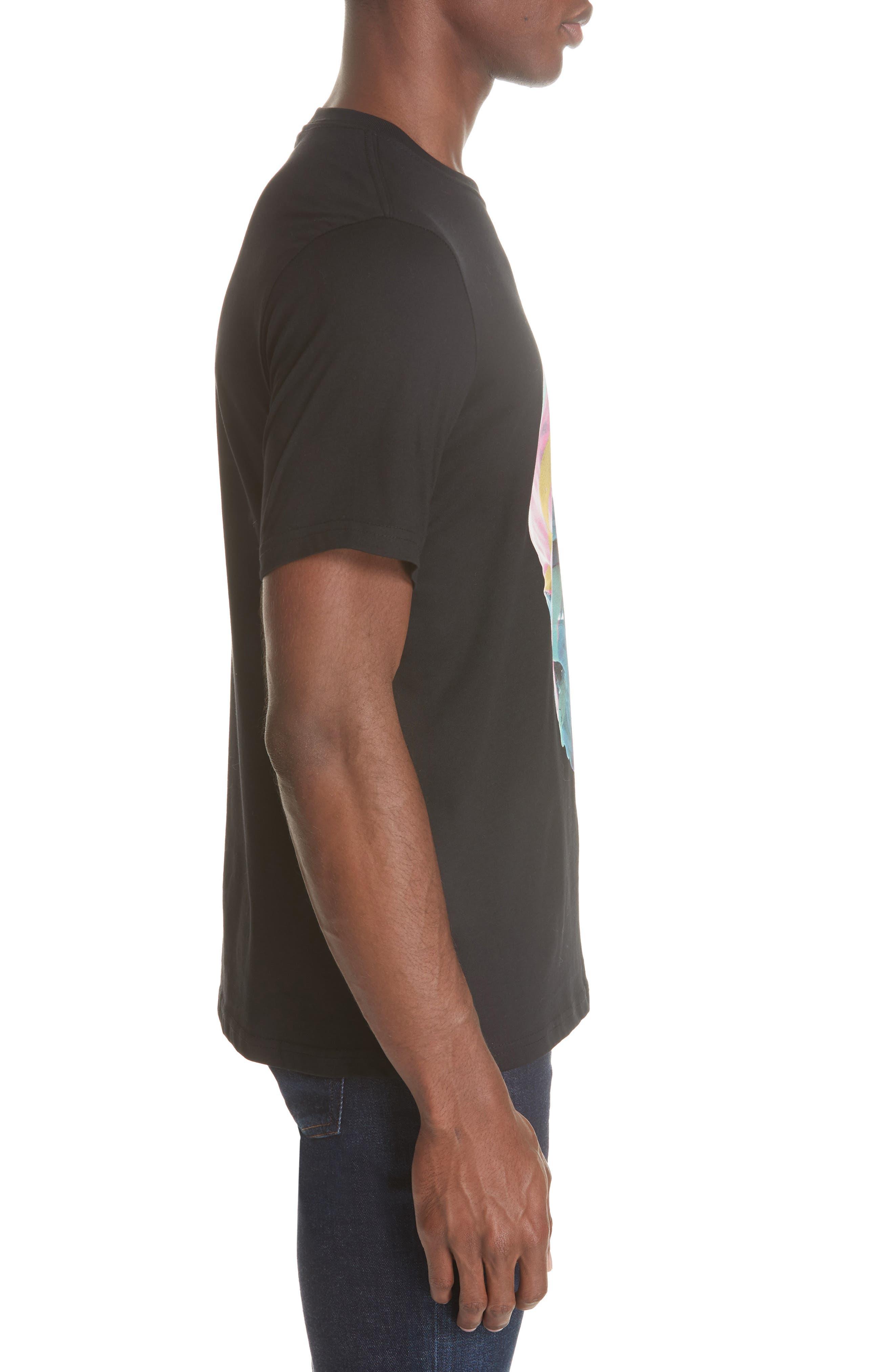 Skull Graphic T-Shirt,                             Alternate thumbnail 3, color,                             BLACK