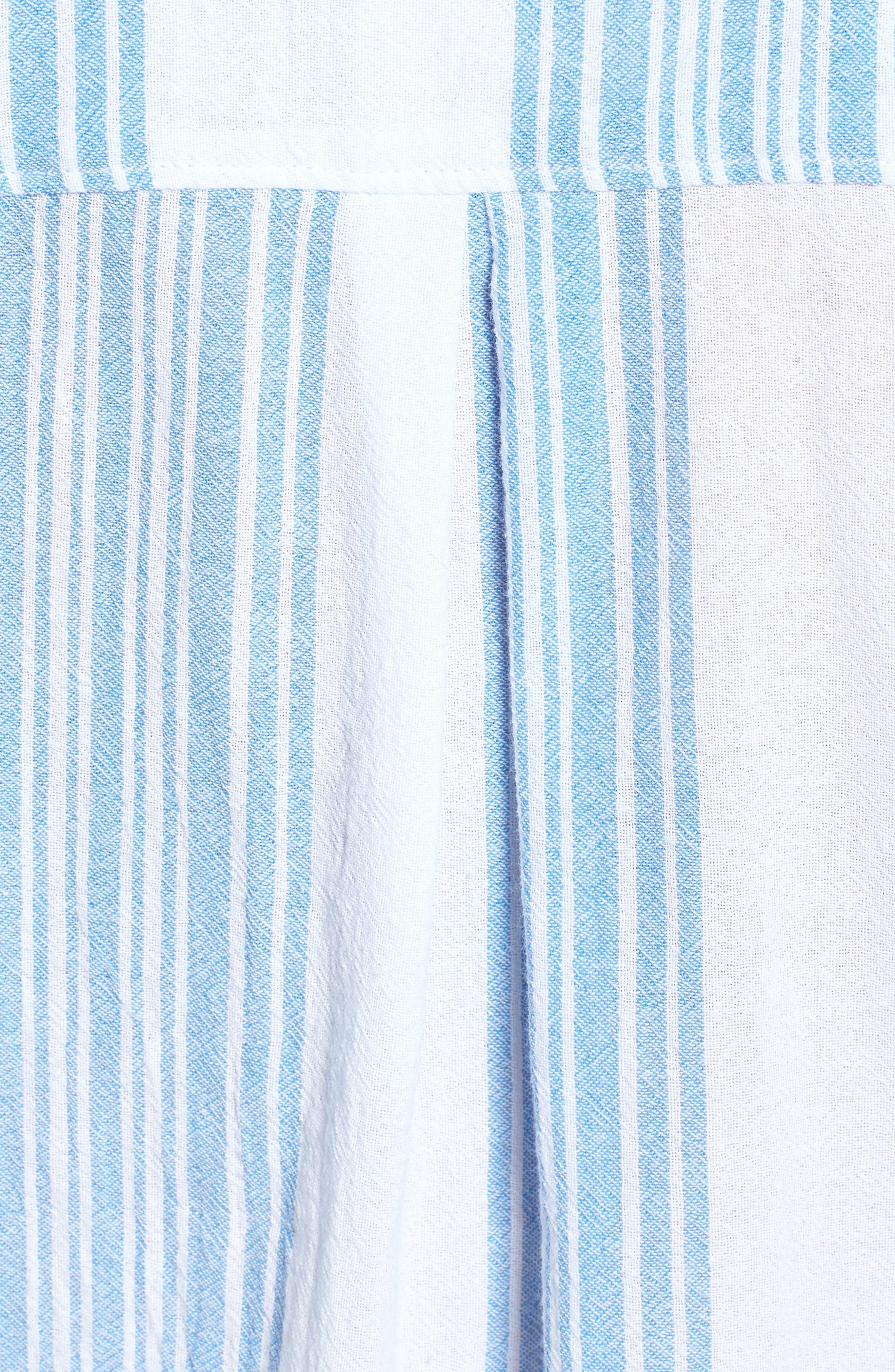 Stripe Camp Shirt,                             Alternate thumbnail 5, color,                             400
