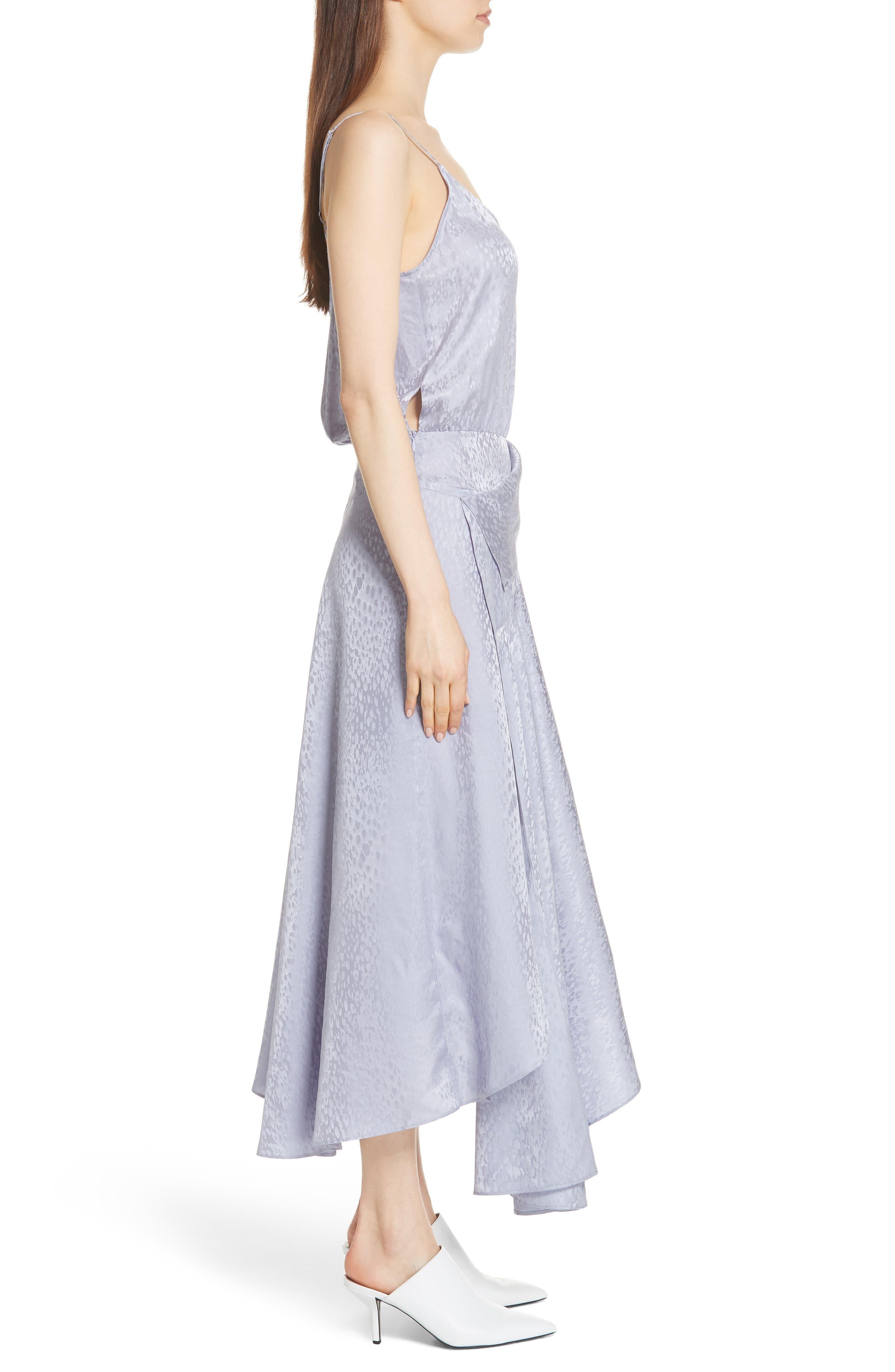 A.L.C.,                             Willa Asymmetrical Silk Jacquard Dress,                             Alternate thumbnail 3, color,                             540