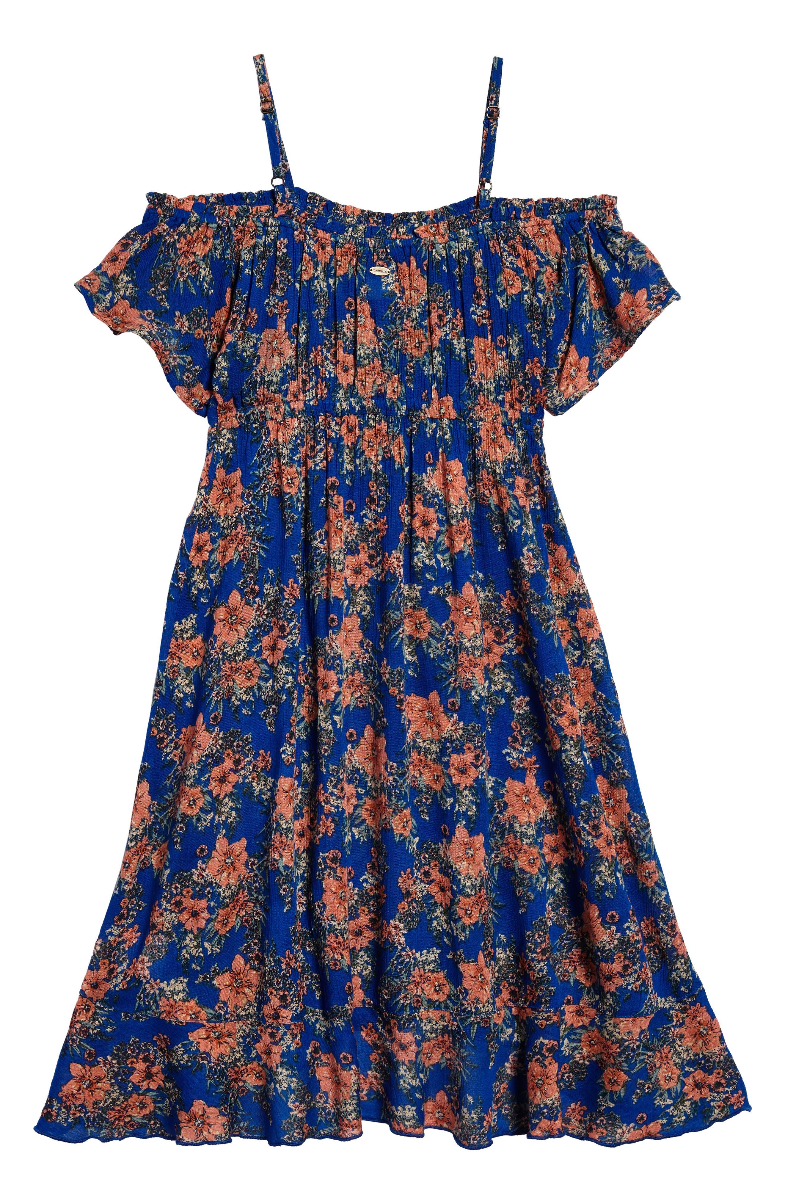 Jackie Off the Shoulder Dress,                             Alternate thumbnail 3, color,