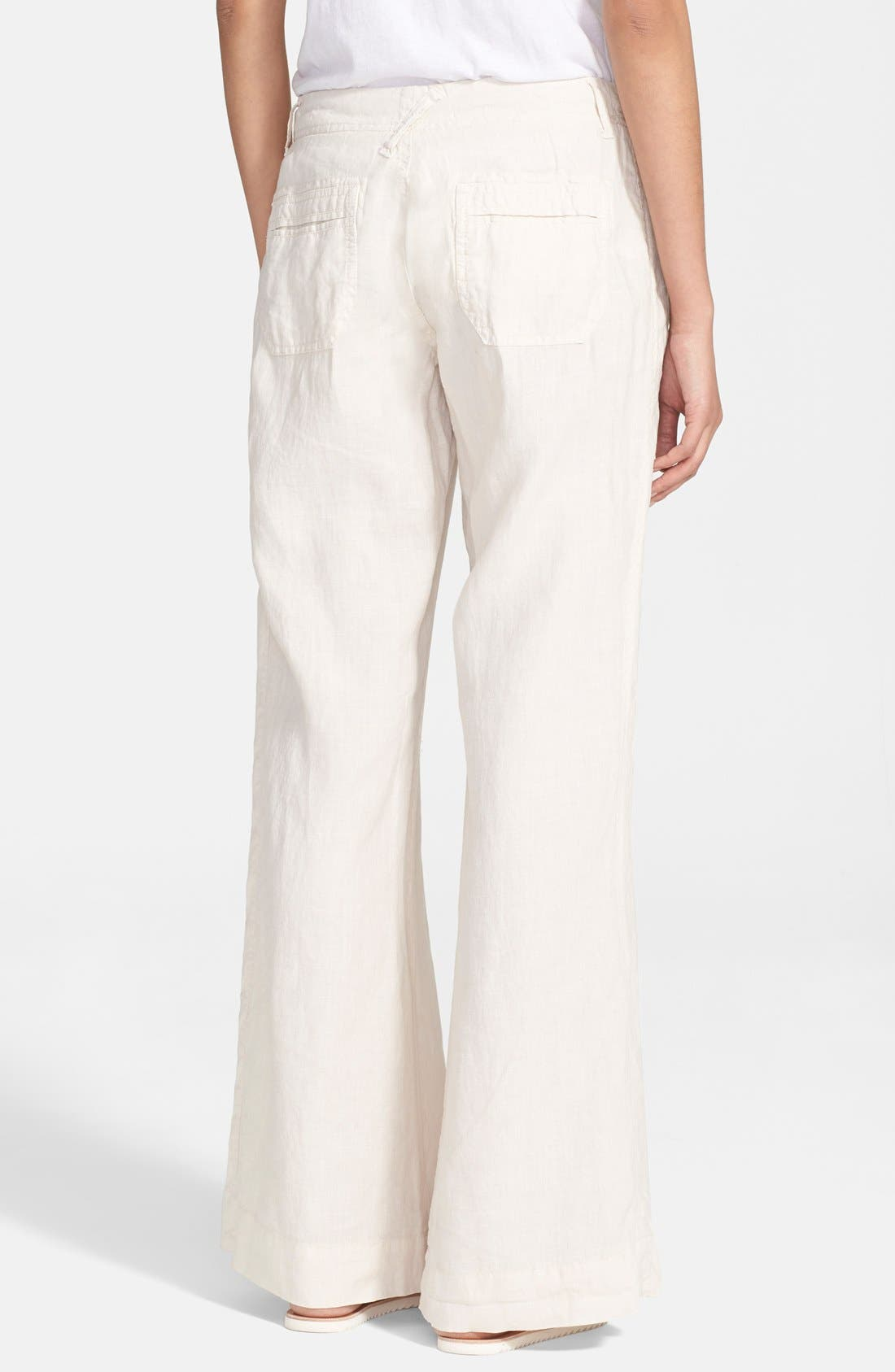 Wide Leg Linen Pants,                             Alternate thumbnail 12, color,