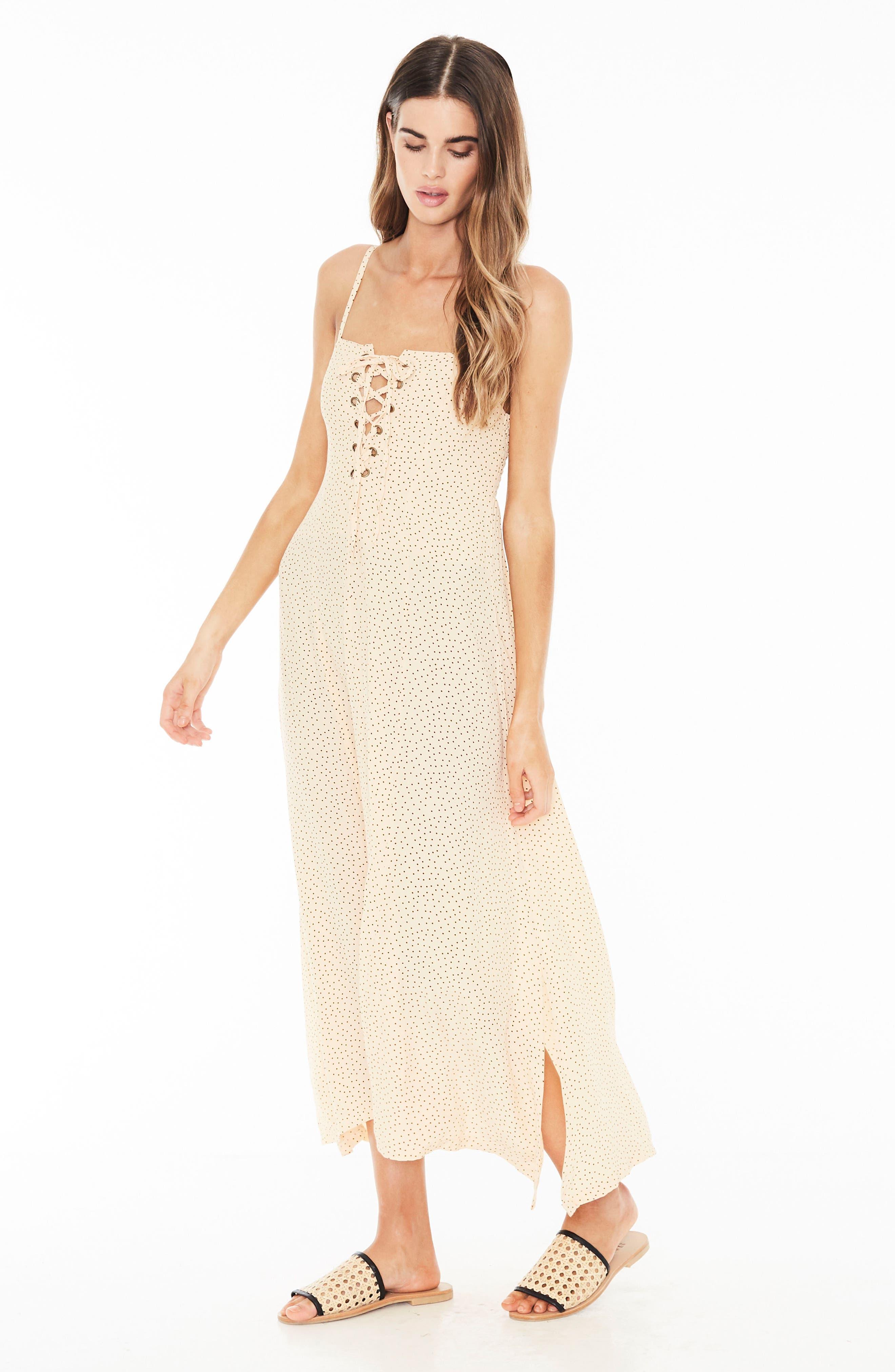 Mirador Lace-Up Midi Dress,                             Alternate thumbnail 4, color,                             900