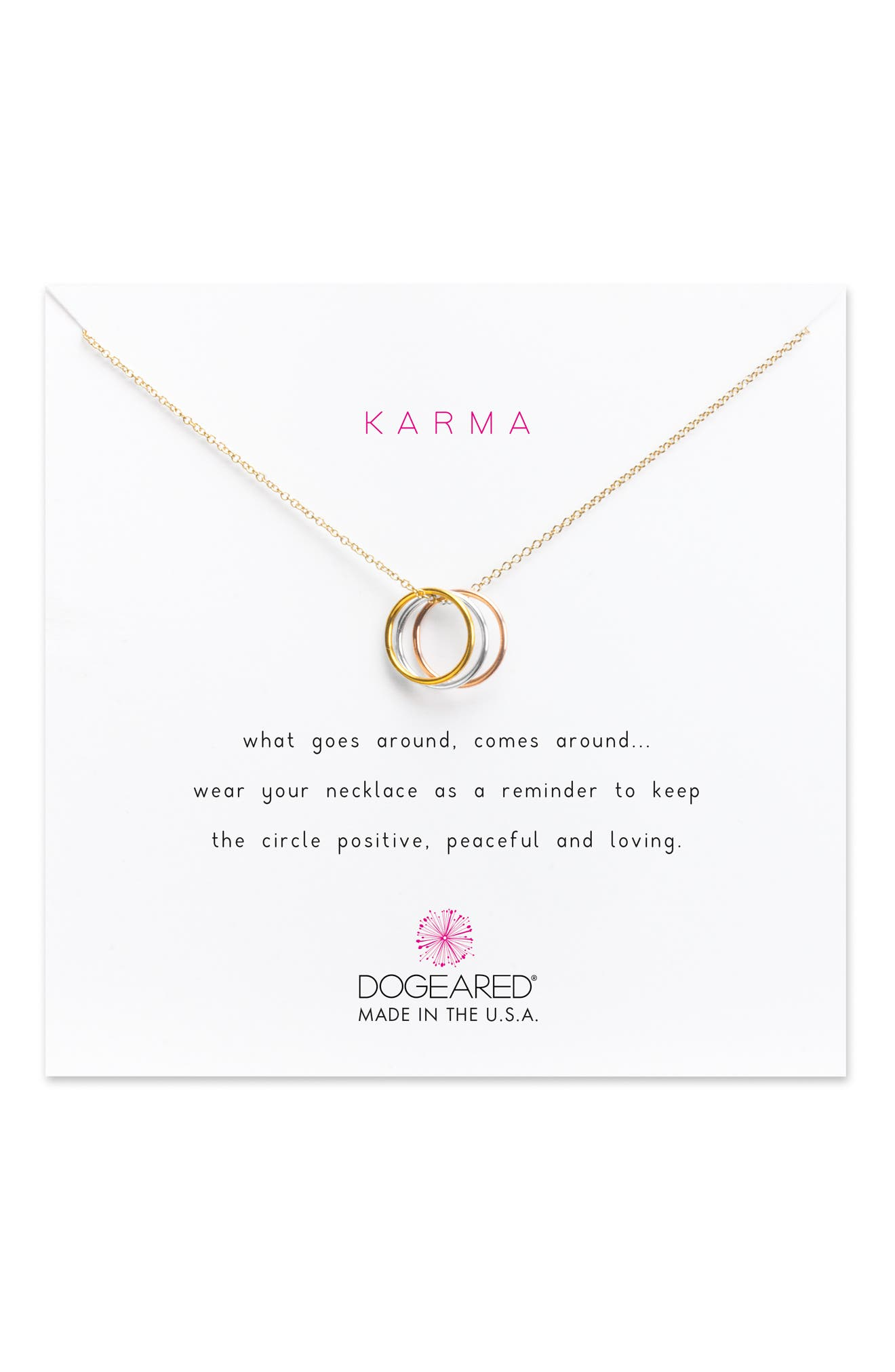 Triple Karma Pendant Necklace,                             Alternate thumbnail 4, color,                             711