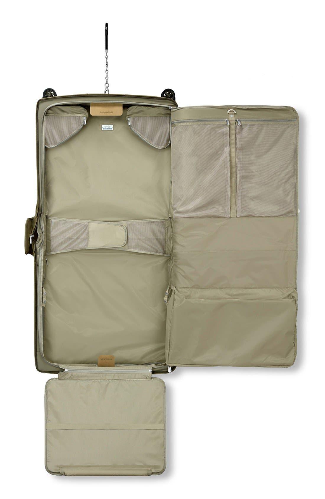 'Baseline' Wheeled Garment Bag,                             Alternate thumbnail 3, color,                             OLIVE GREEN