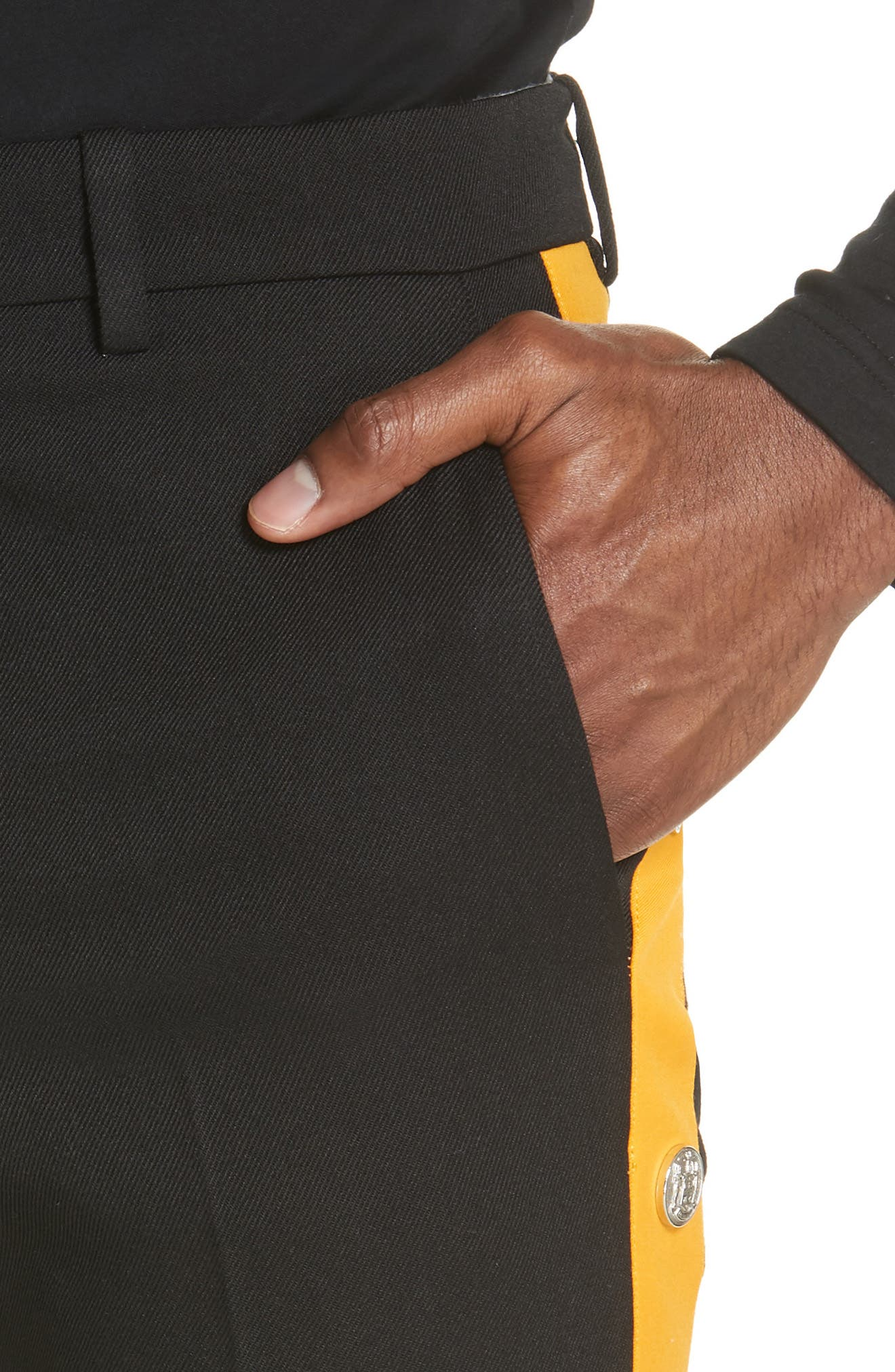Breakaway Pants,                             Alternate thumbnail 4, color,                             BLACK/ TANGARINE