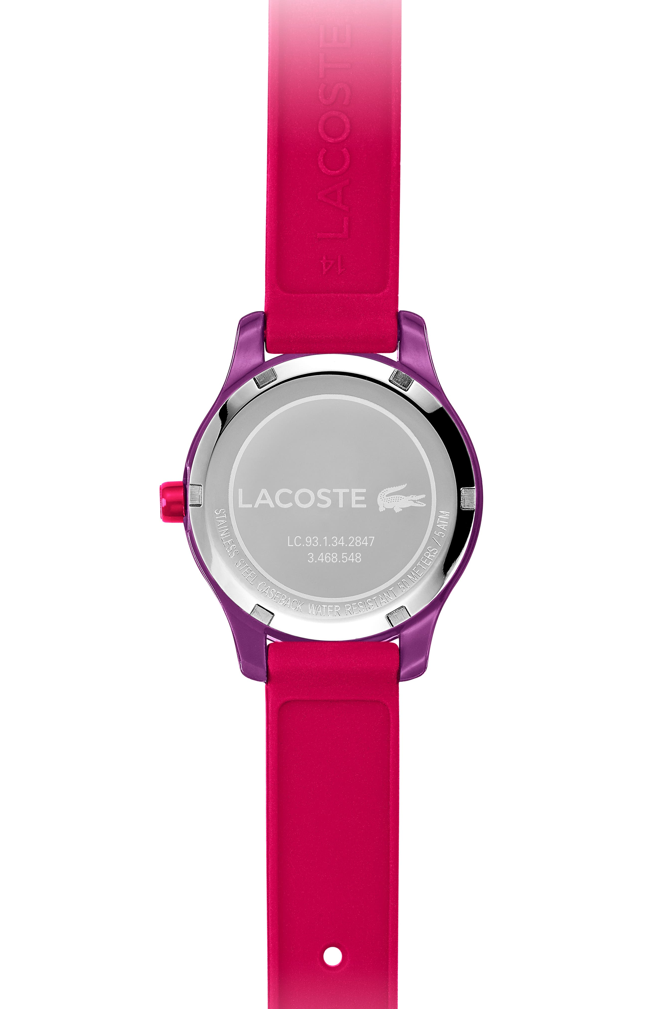 12.12 Rubber Strap Watch, 32mm,                             Alternate thumbnail 2, color,                             PINK