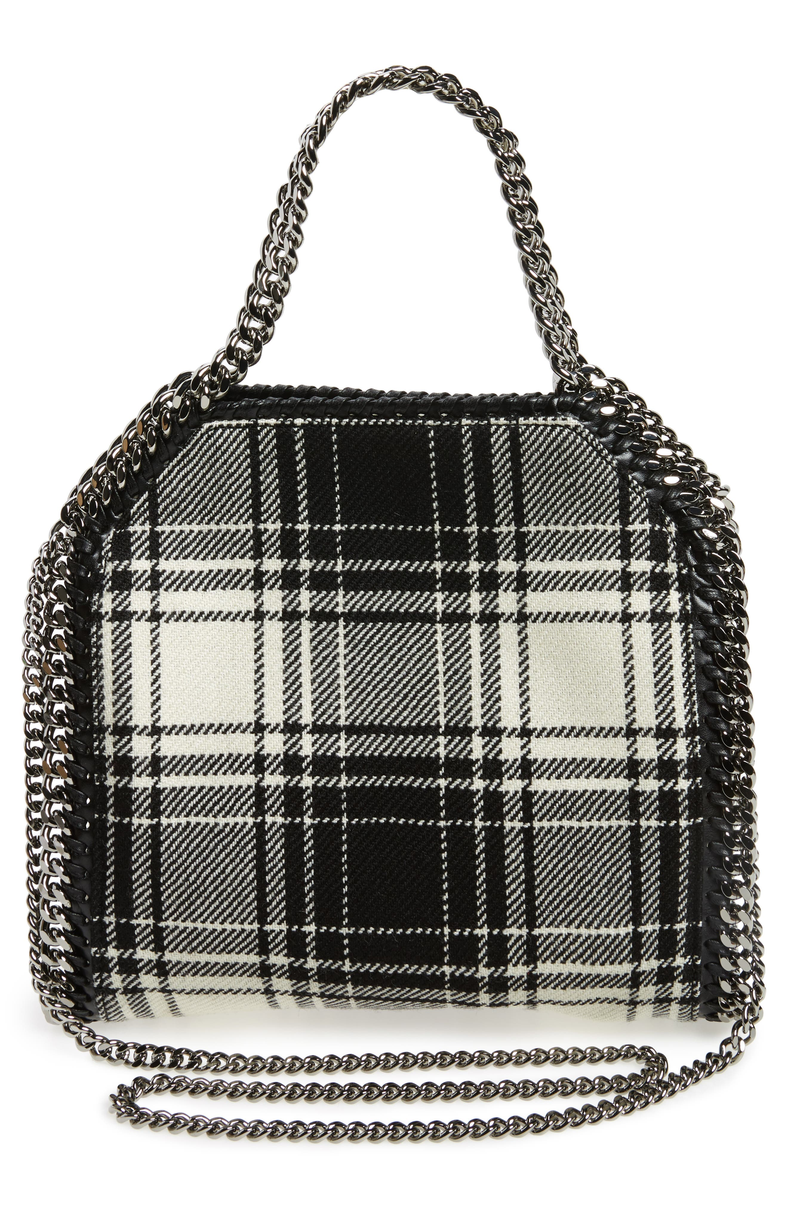 Mini Falabella Mixed Print Virgin Wool Tote,                             Alternate thumbnail 3, color,                             001