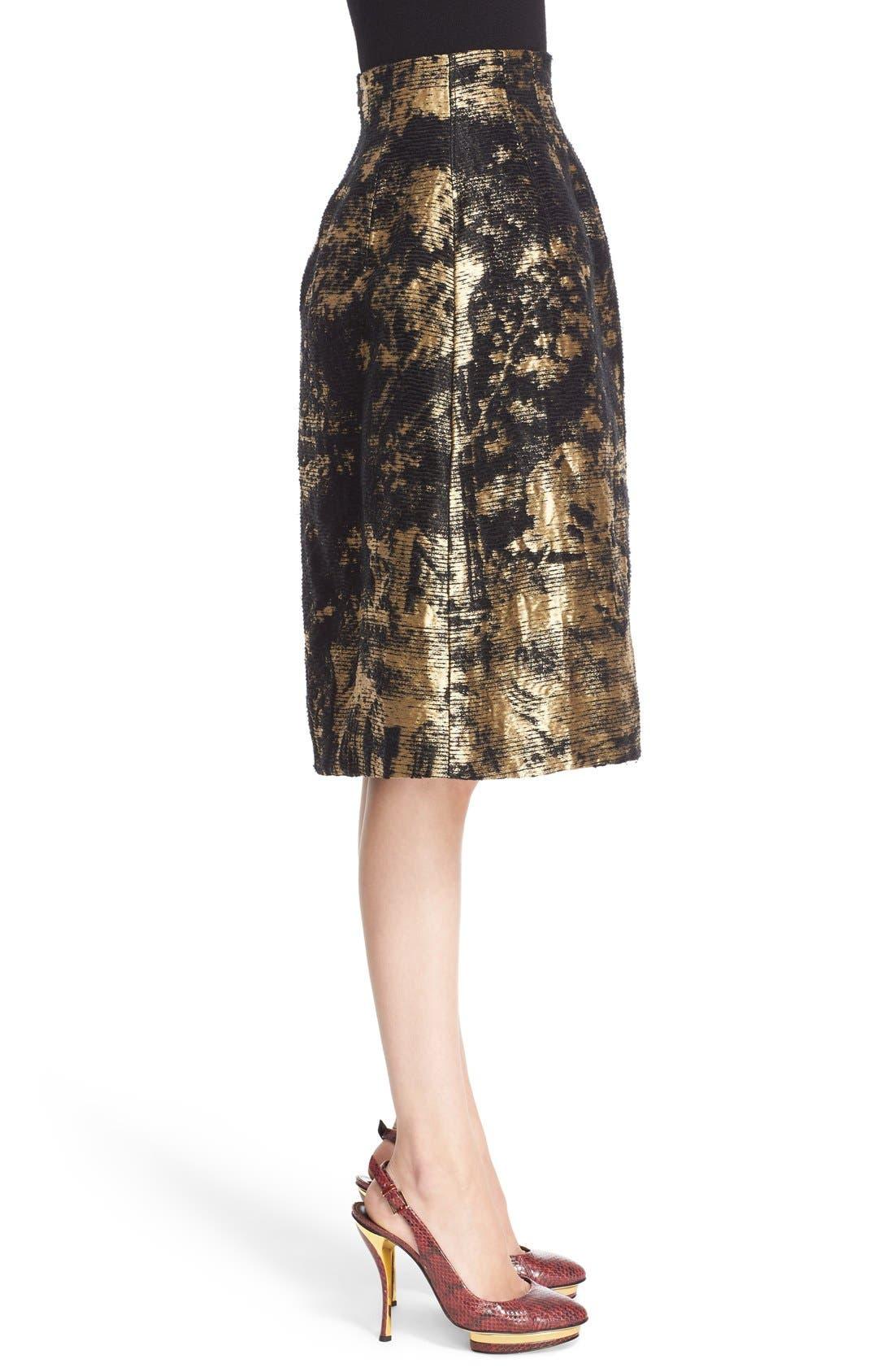 Peacock Jacquard Skirt,                             Alternate thumbnail 4, color,                             710