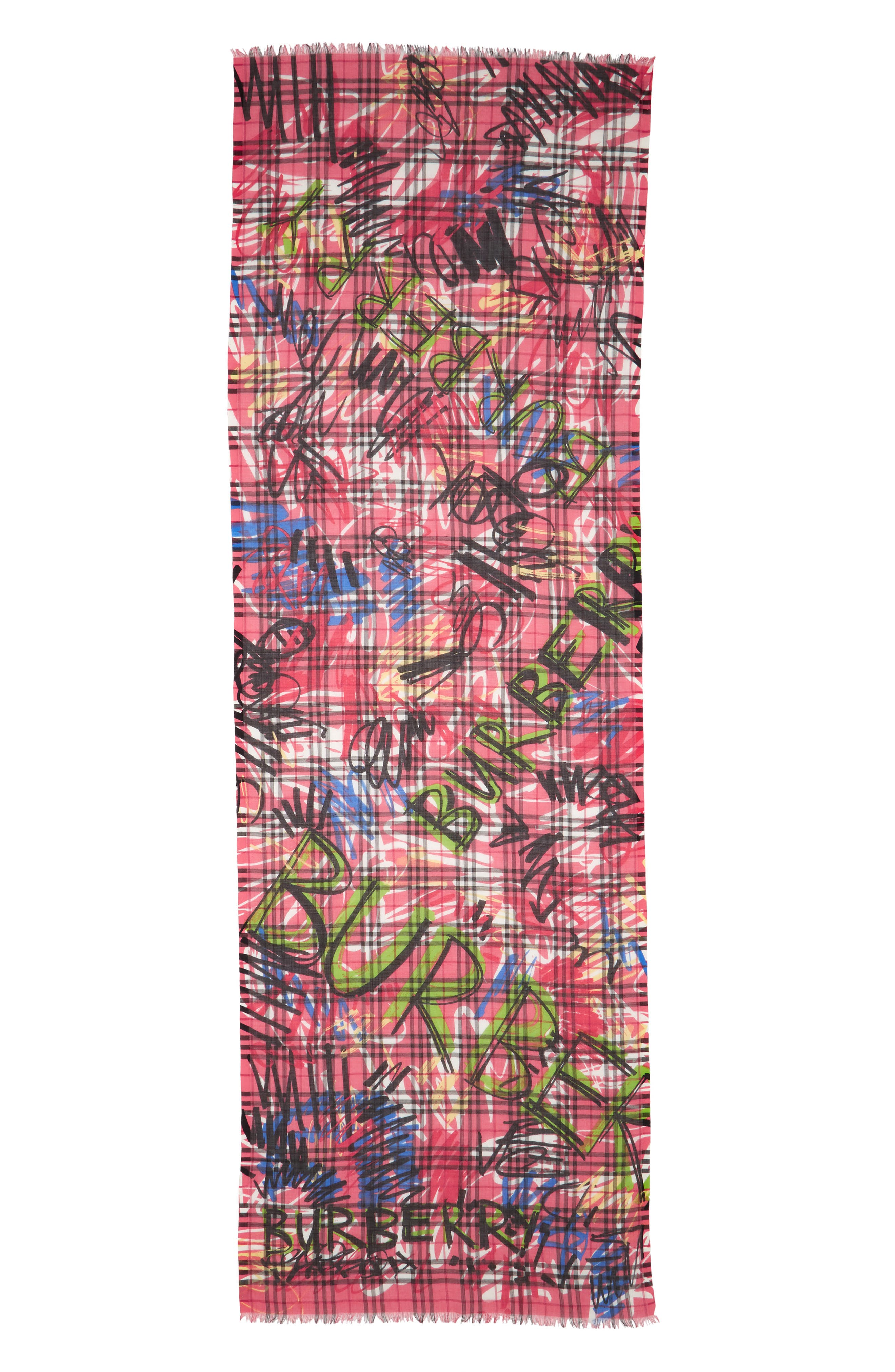 Vintage Check Wool & Silk Scarf,                             Main thumbnail 1, color,                             665