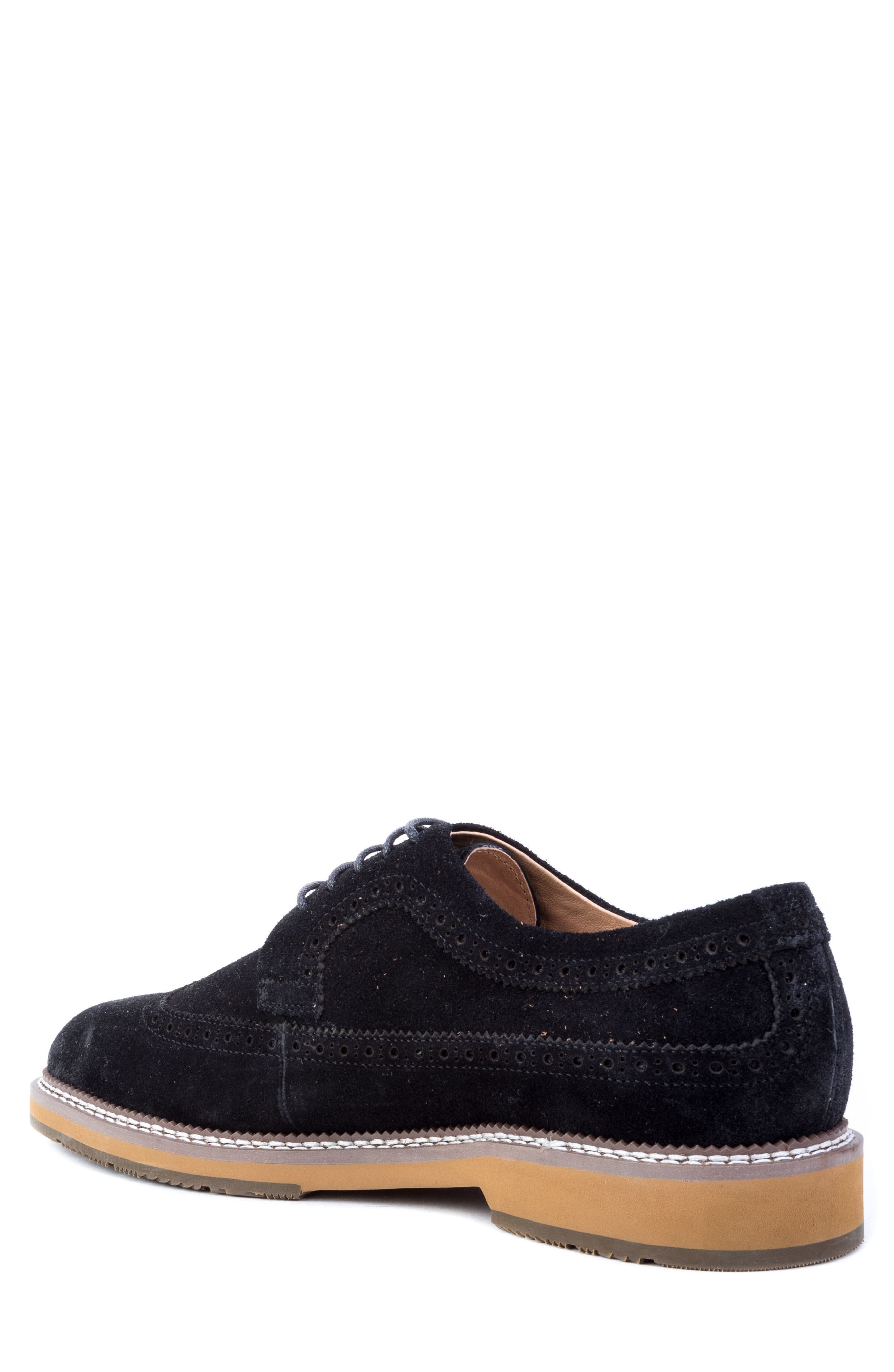 Modigliani Wingtip Derby,                             Alternate thumbnail 2, color,                             BLACK SUEDE