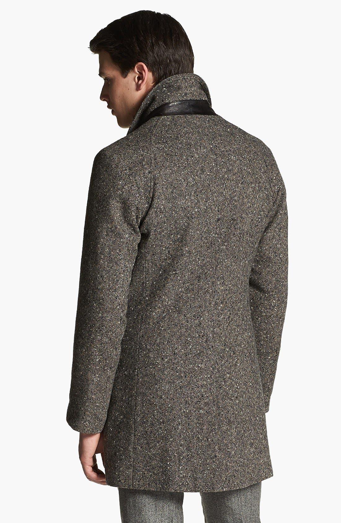 BILLY REID,                             'Astor' Tweed Overcoat,                             Alternate thumbnail 5, color,                             092