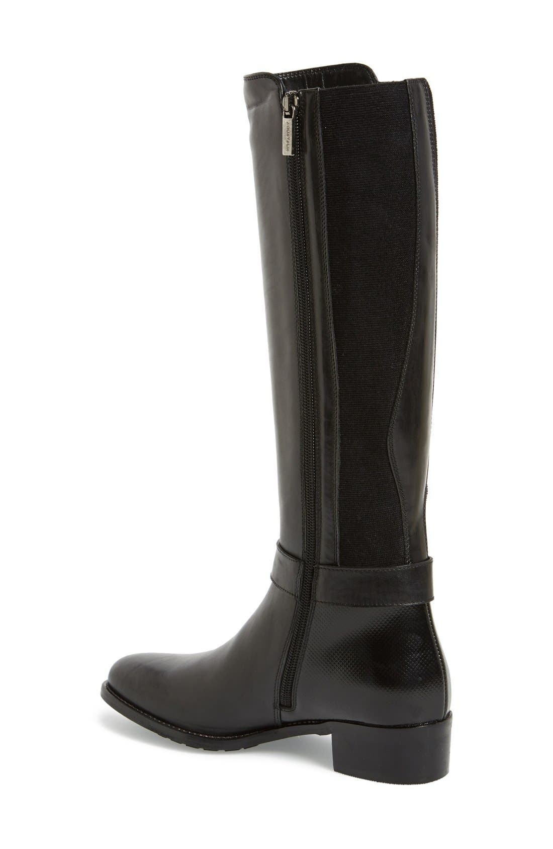 'Olita' Weatherproof Riding Boot,                             Alternate thumbnail 3, color,                             001
