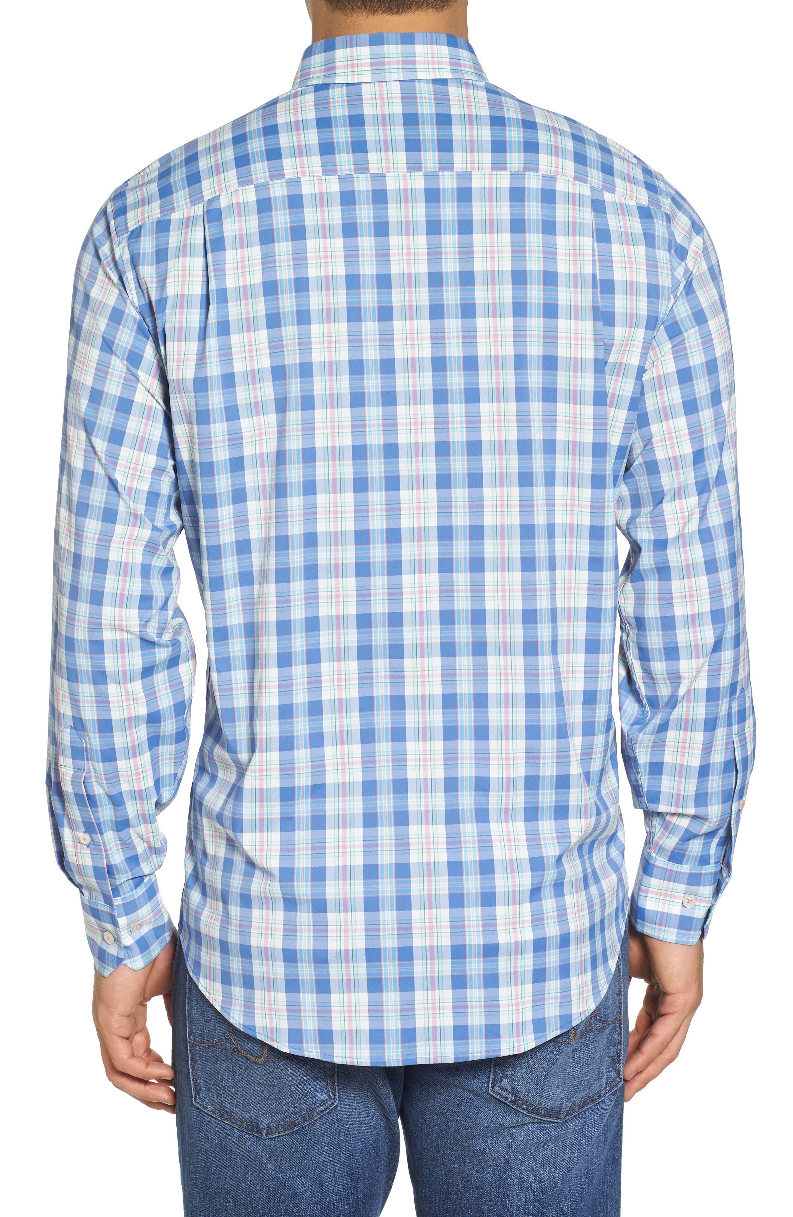 Great Harbor Regular Fit Plaid Stretch Sport Shirt,                             Alternate thumbnail 2, color,                             466