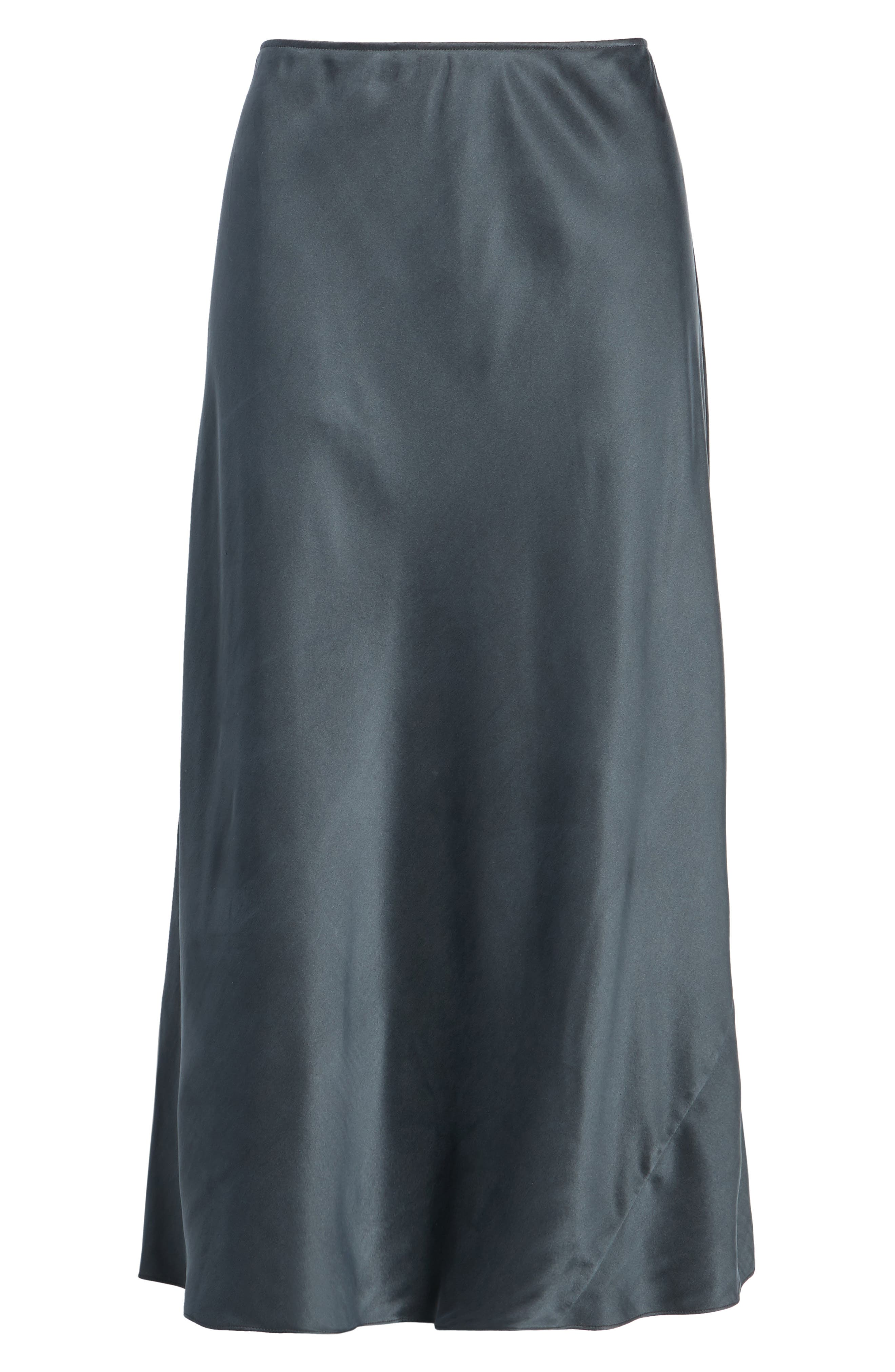 Bias Cut Silk Skirt,                             Alternate thumbnail 6, color,                             025