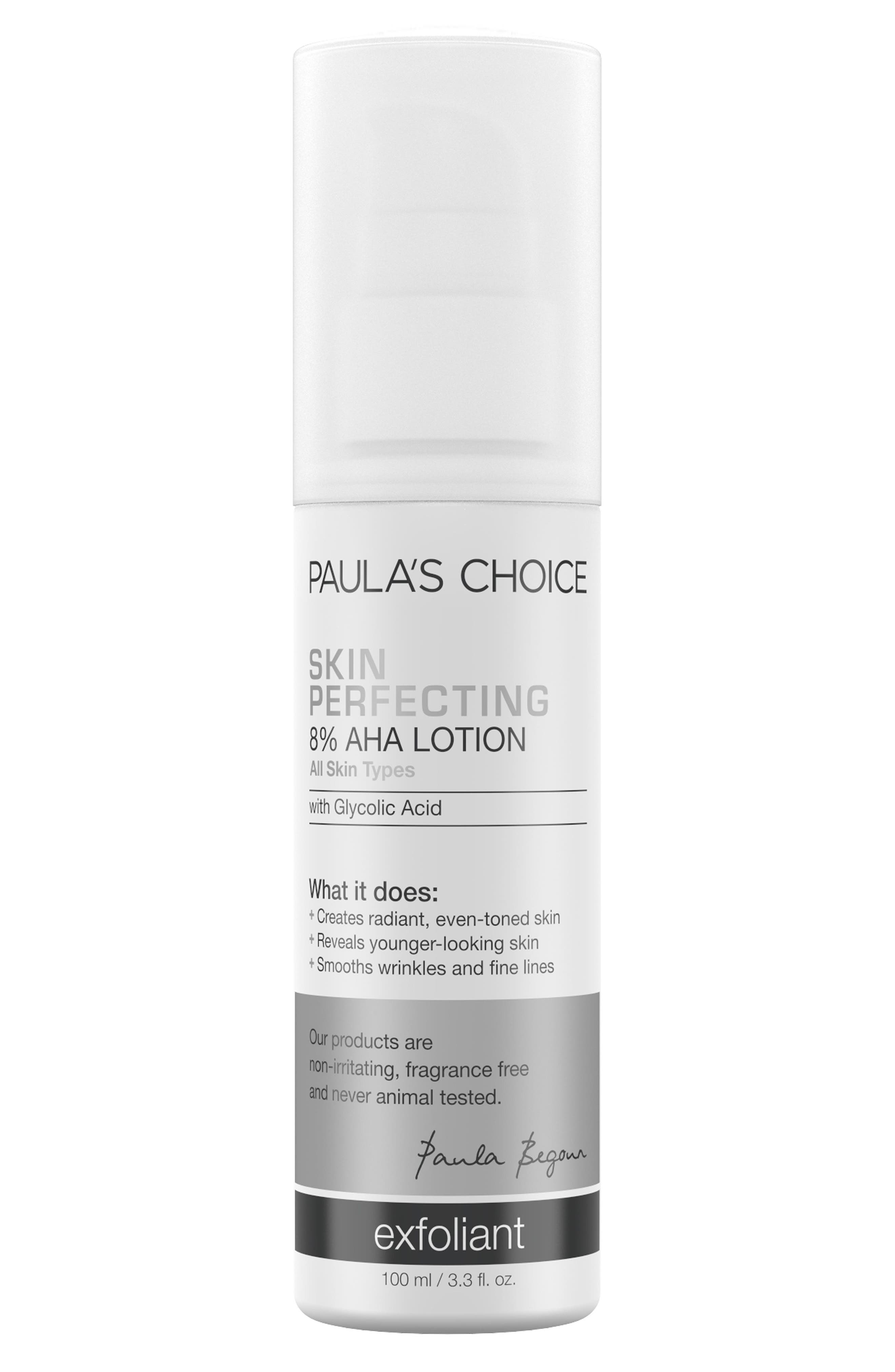 Skin Perfecting 8% AHA Lotion,                             Main thumbnail 1, color,                             000