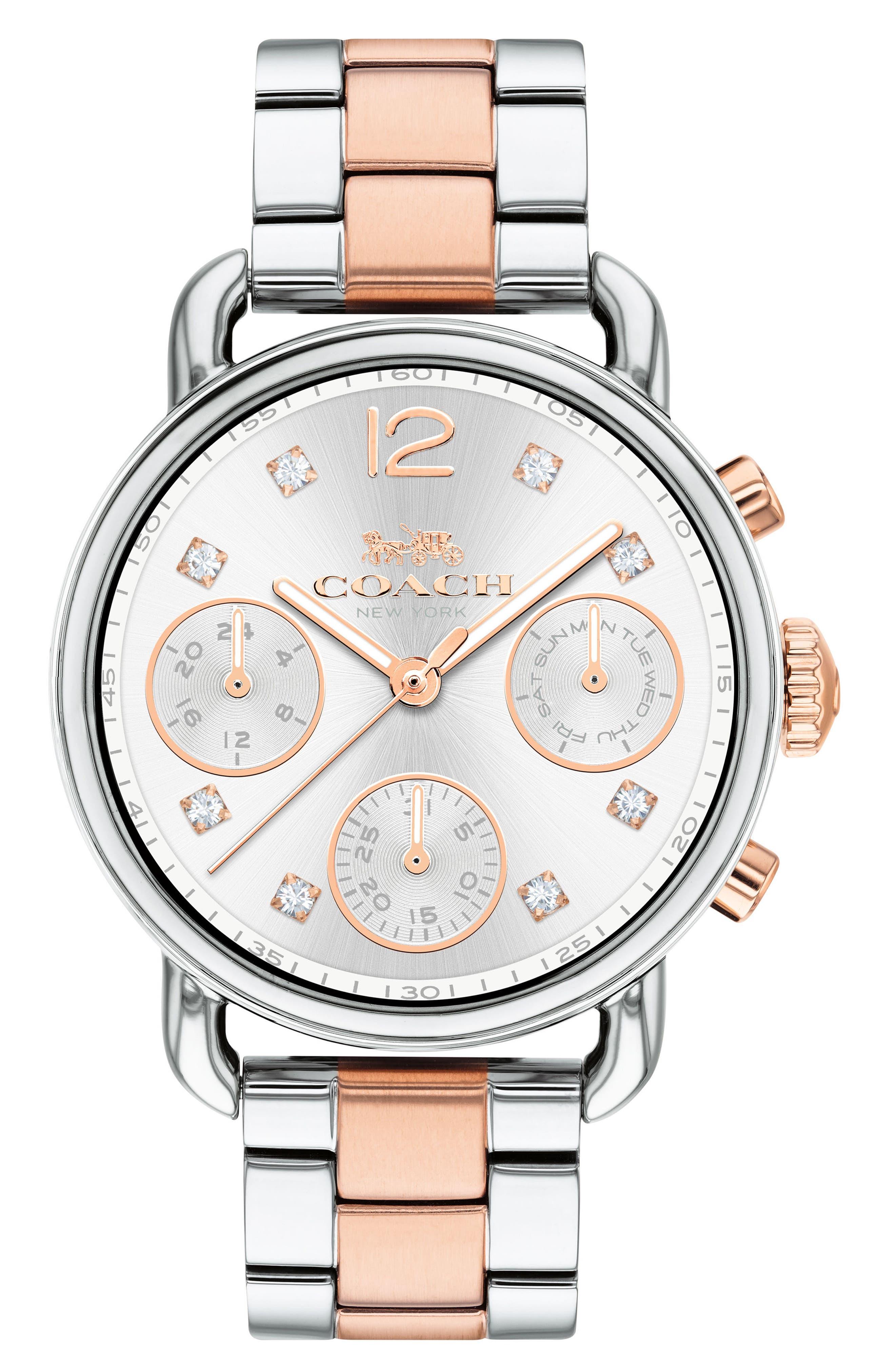 Delancey Chronograph Crystal Accent Bracelet Watch, 36mm,                             Main thumbnail 2, color,