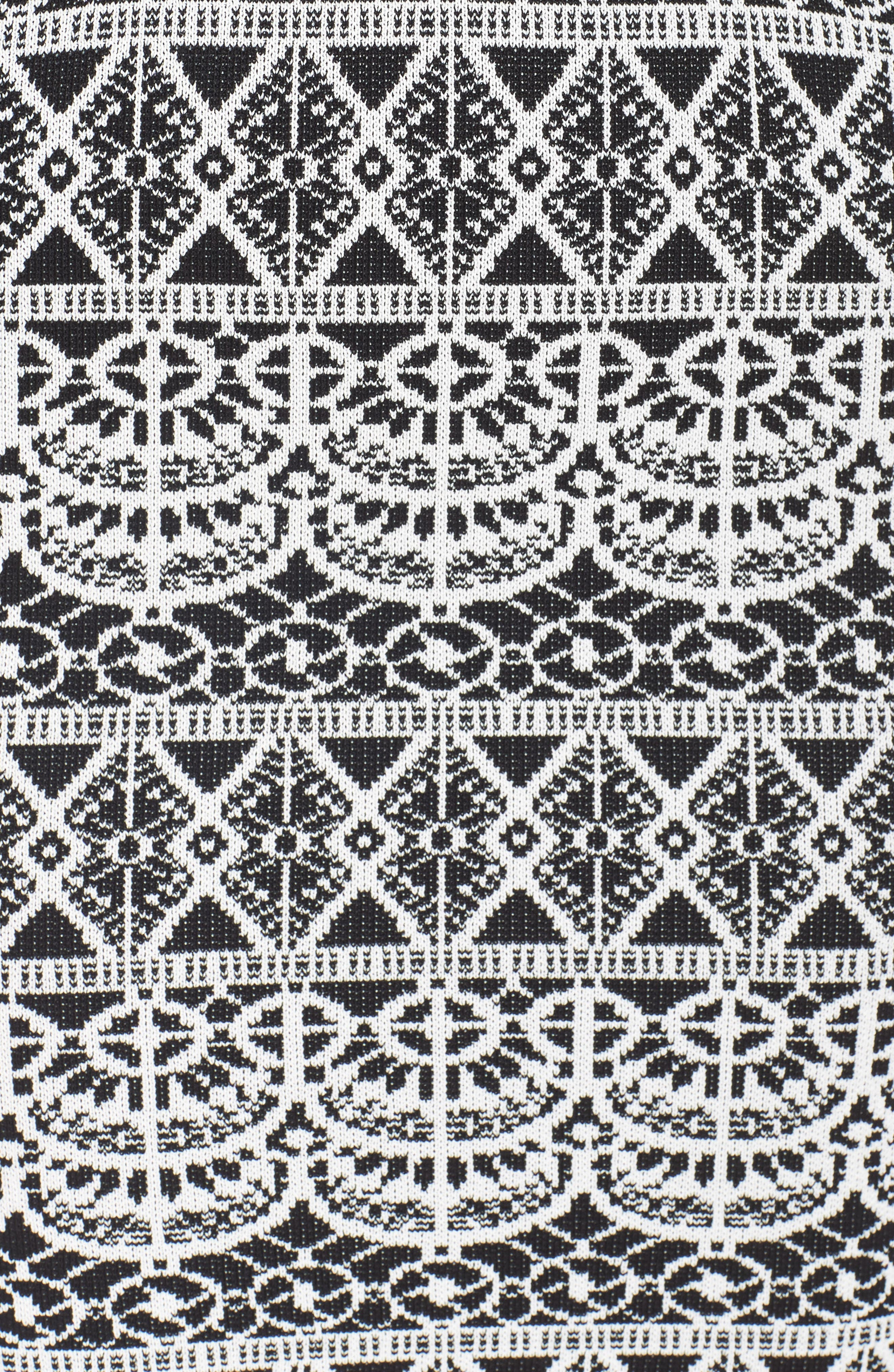 Botanical Seduction Cutout Dress,                             Alternate thumbnail 6, color,                             009