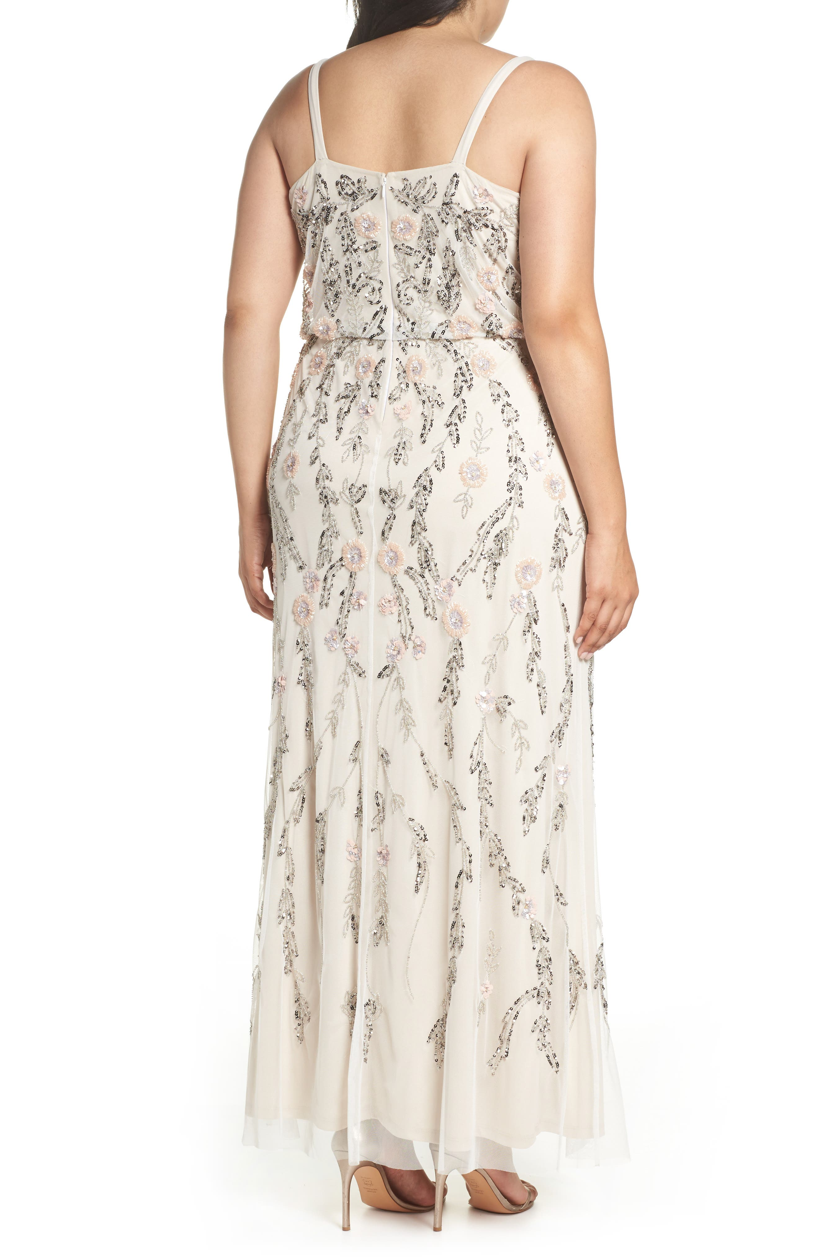 Beaded Blouson Gown,                             Alternate thumbnail 2, color,                             900