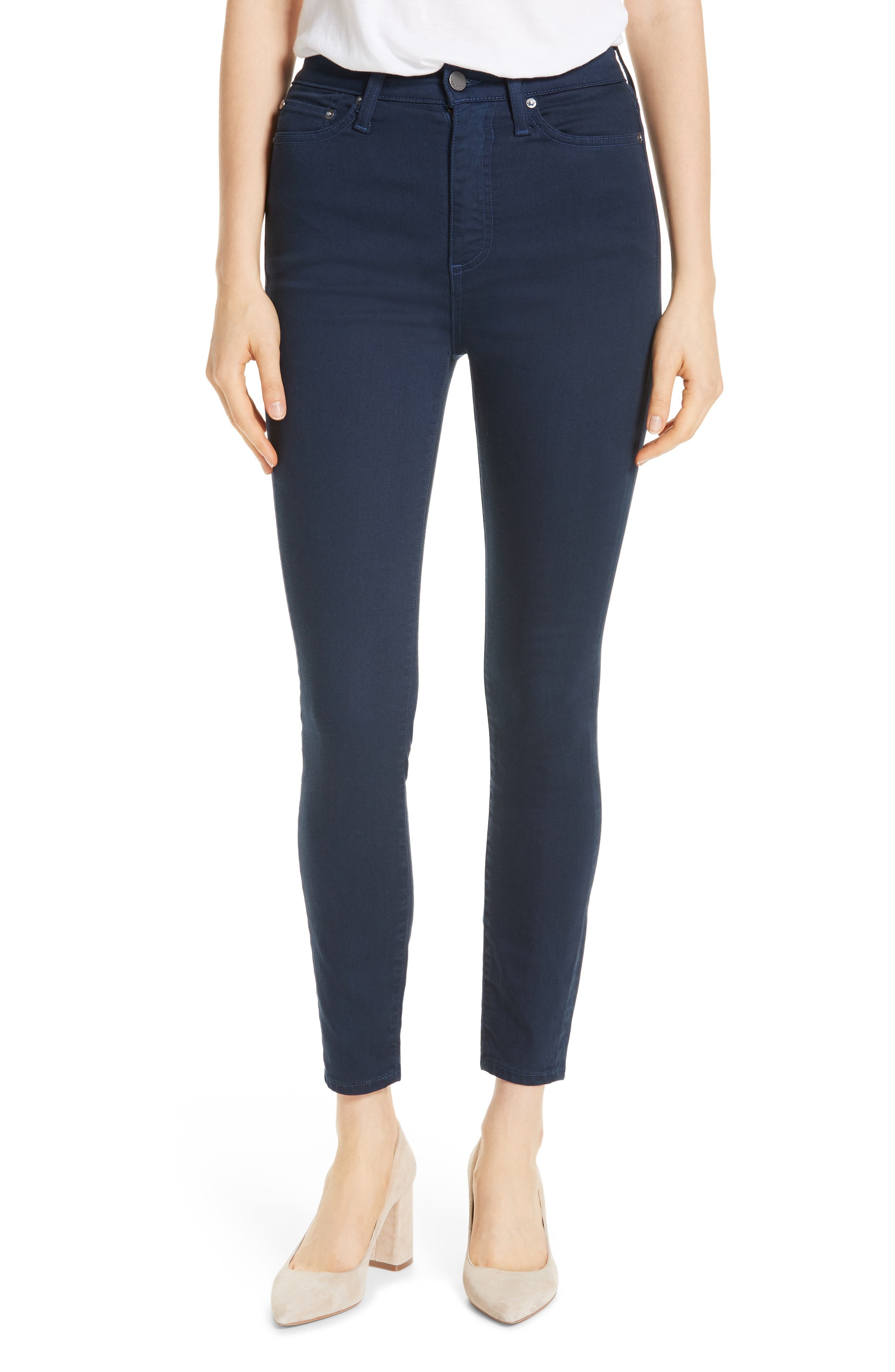 Good High Waist Skinny Jeans,                             Main thumbnail 1, color,                             400
