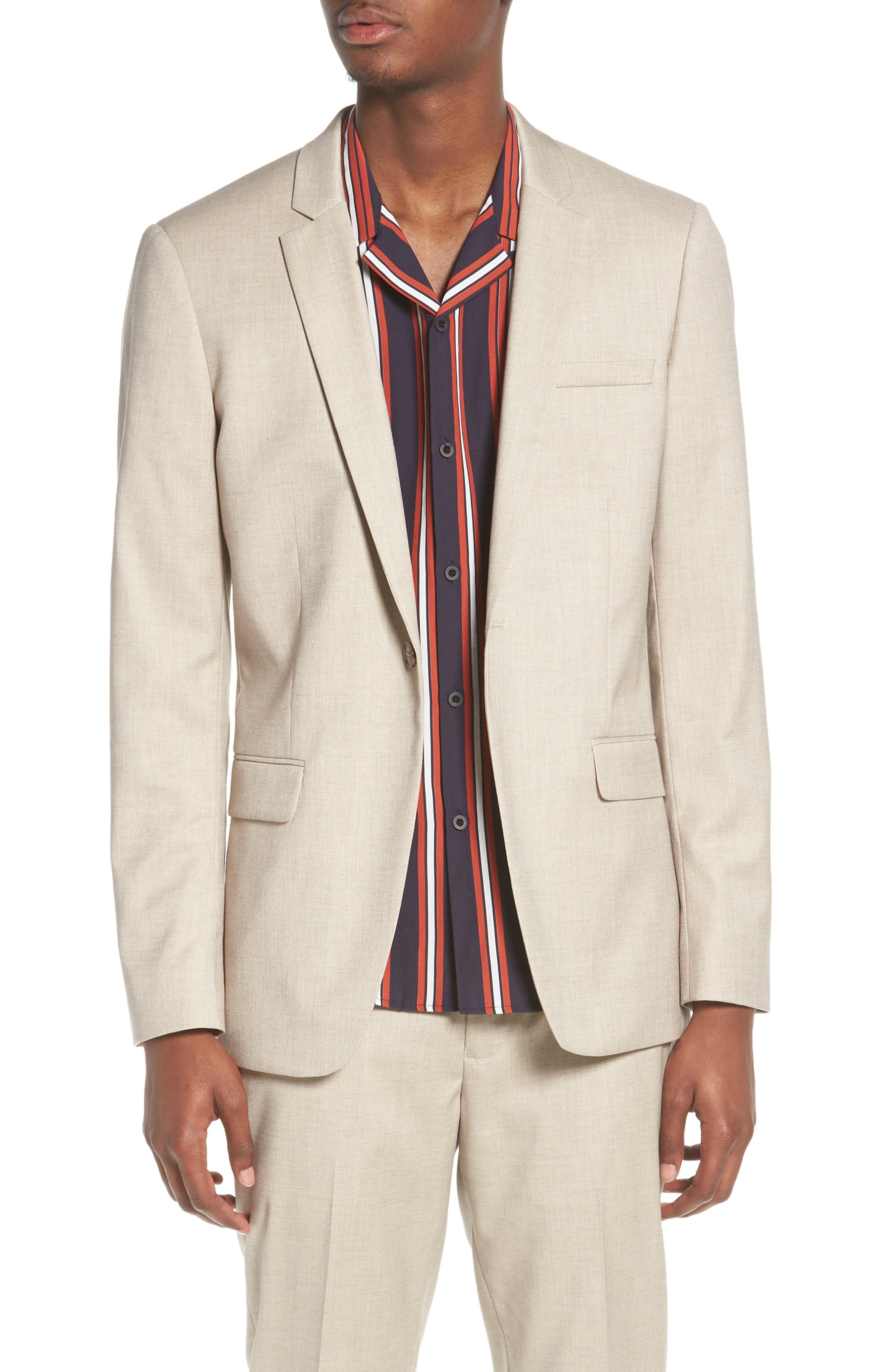 Skinny Fit Check Suit Jacket,                         Main,                         color, 250