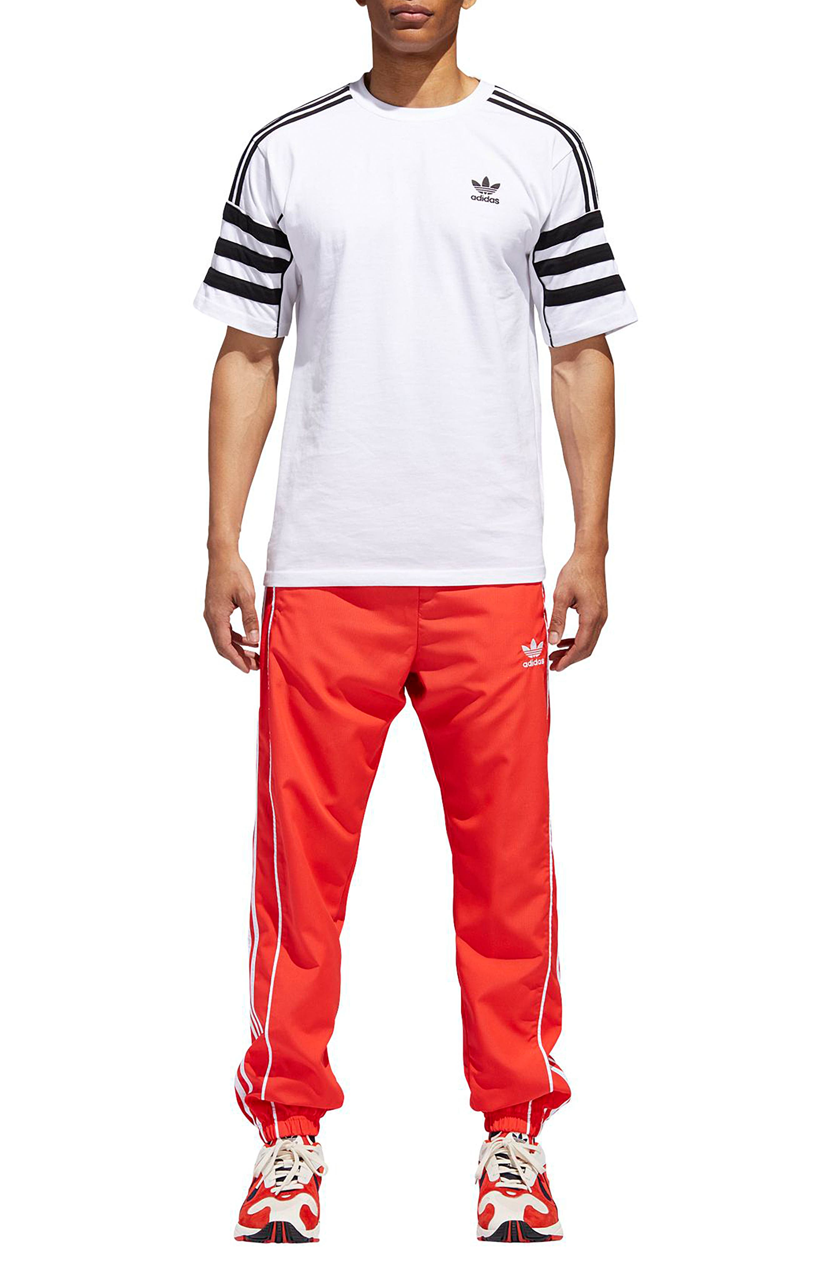 Authentics Ripstop Track Pants,                             Alternate thumbnail 7, color,                             HI-RES RED/ WHITE