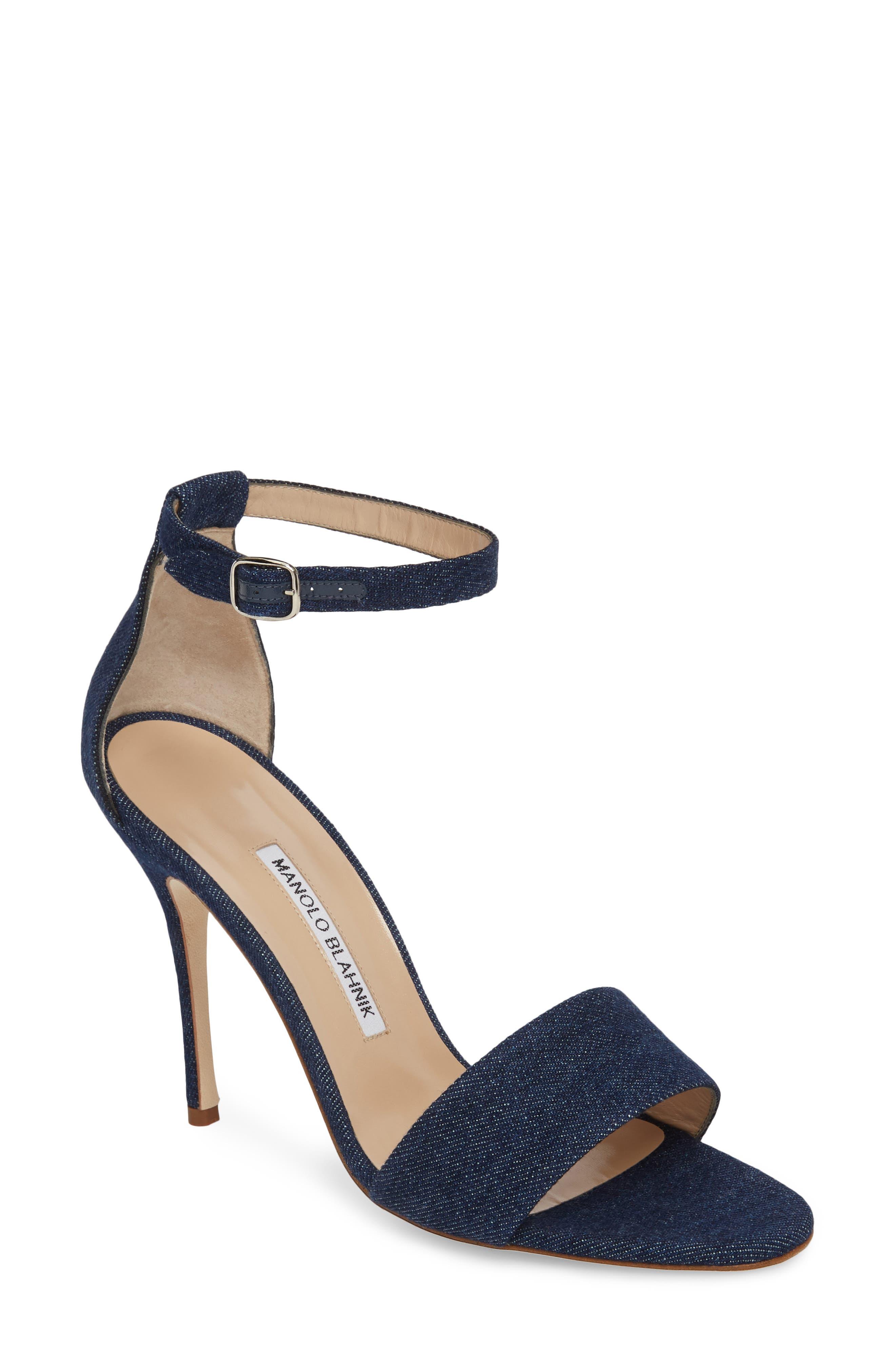 Tres Ankle Strap Sandal,                             Main thumbnail 1, color,                             DENIM BLUE